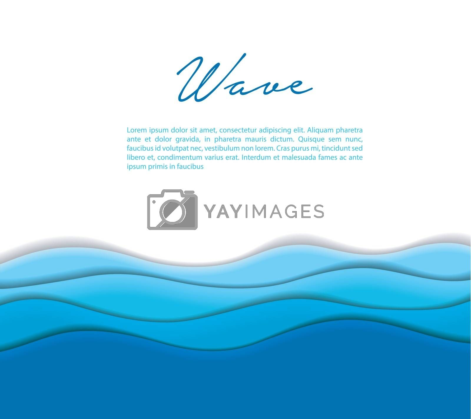 Royalty free image of Abstract waves background by SonneOn