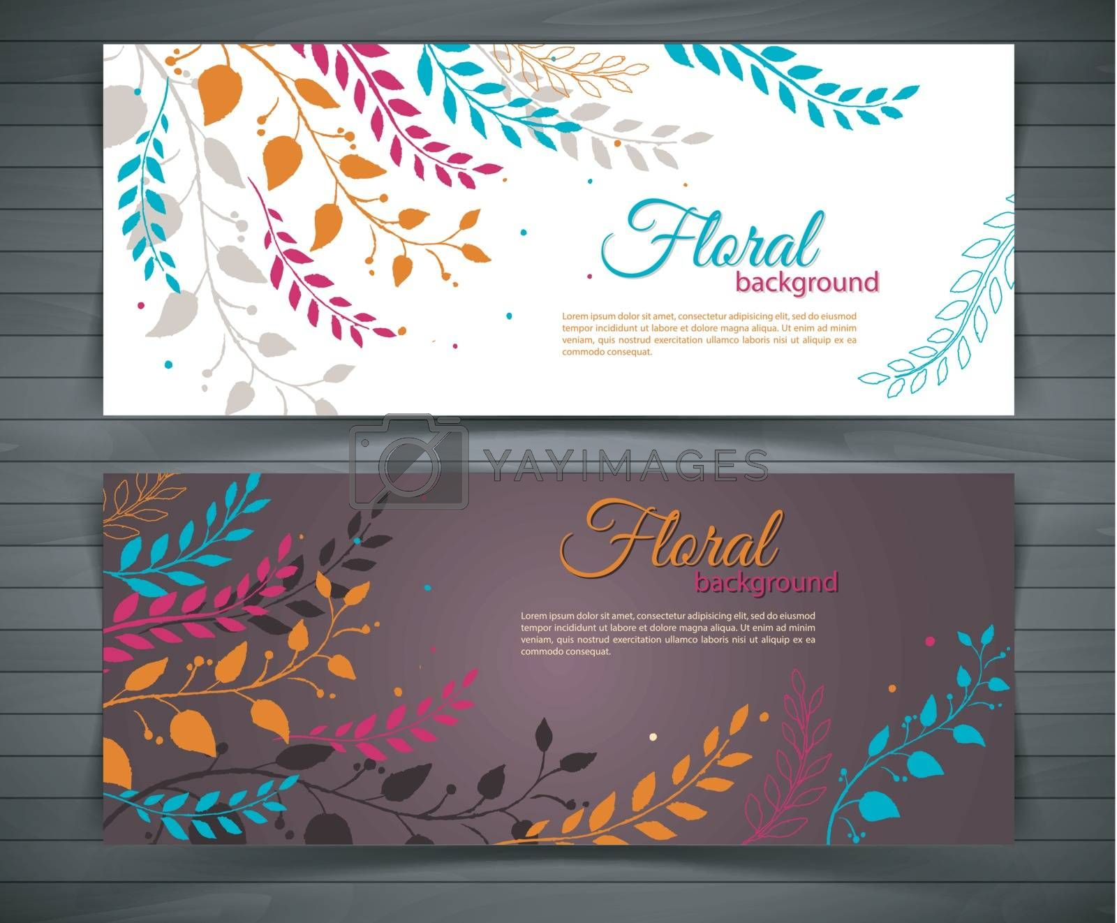 Royalty free image of Floral design template by SonneOn
