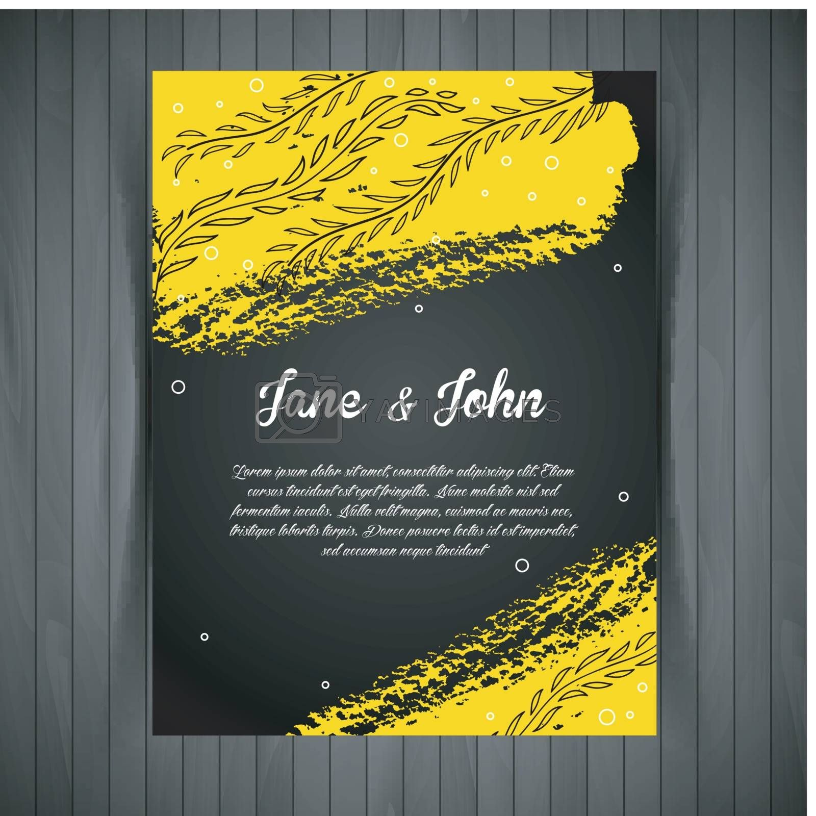 Royalty free image of Wedding card by SonneOn