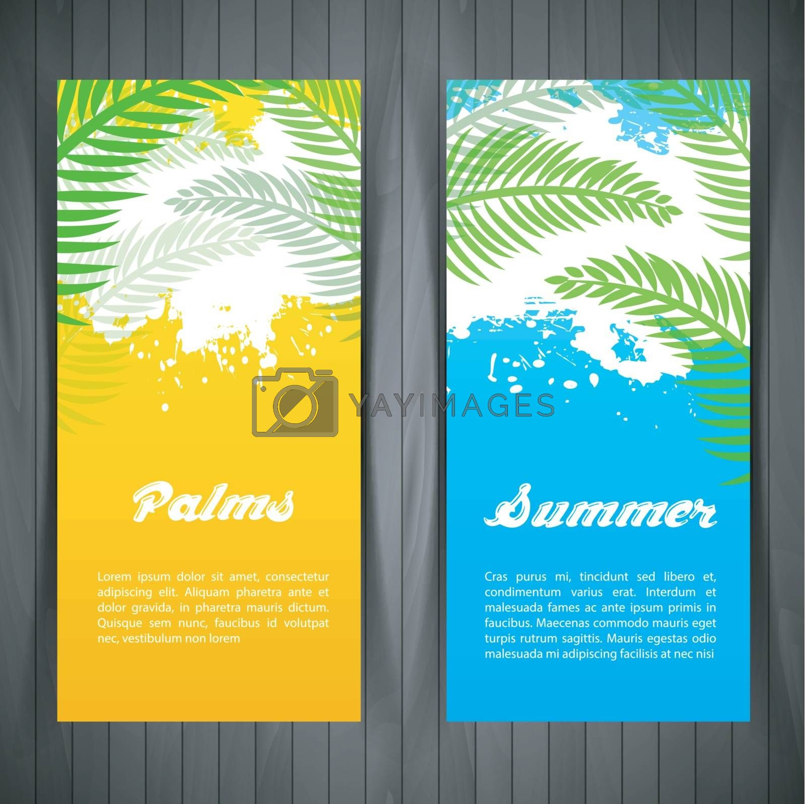 Royalty free image of Palm silhouettes card by SonneOn