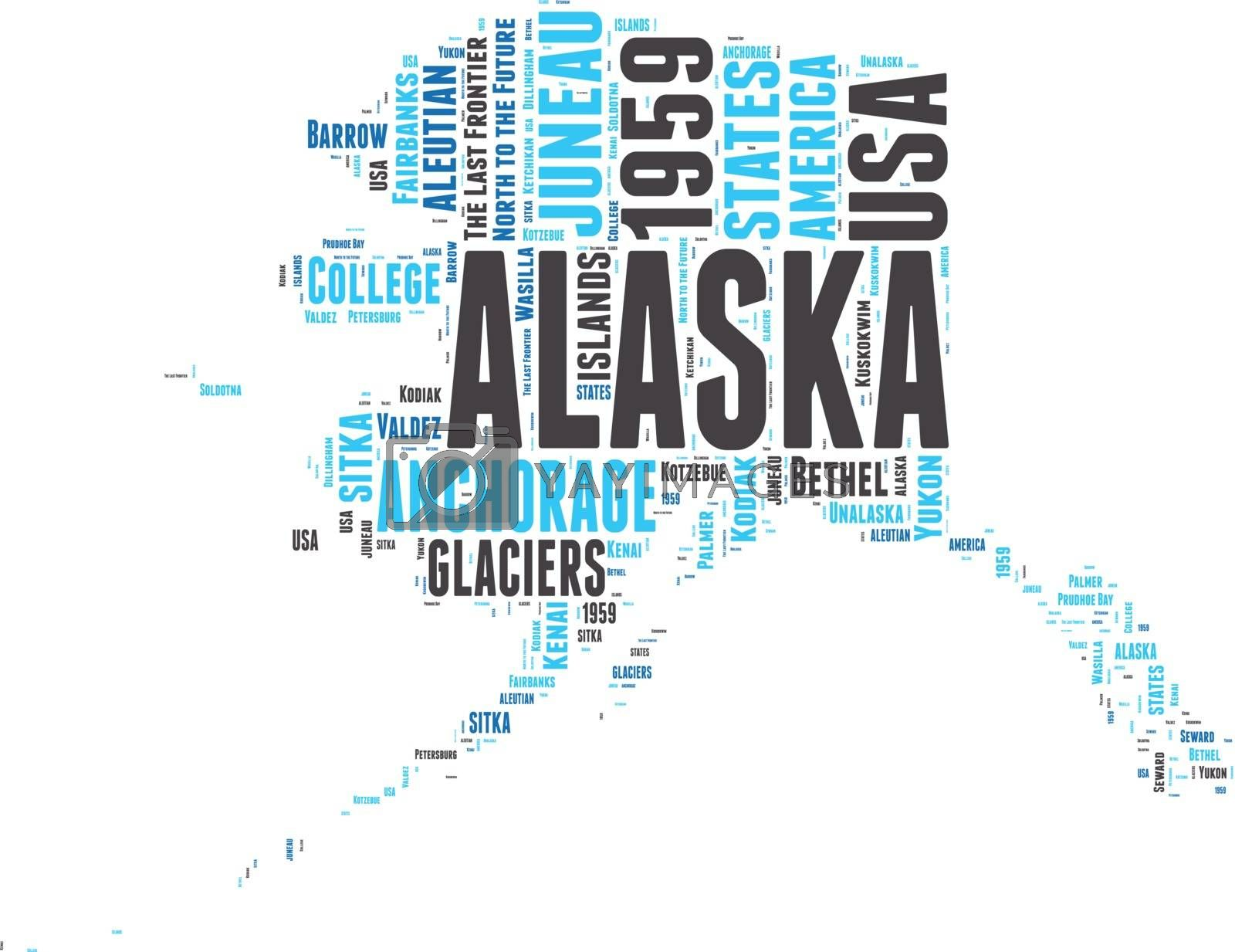 Royalty free image of Alaska USA state map vector tag cloud illustration by lifeinapixel