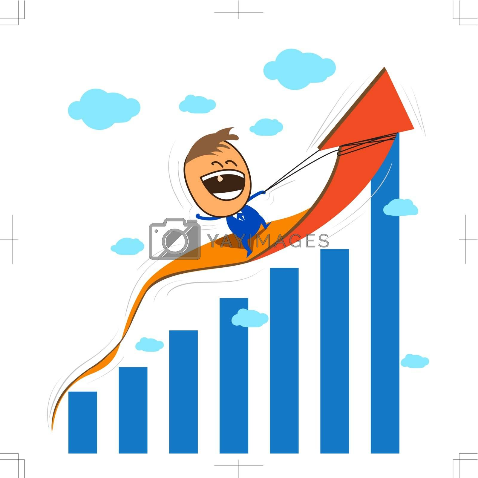 Business concept in growth economy or financial situation.