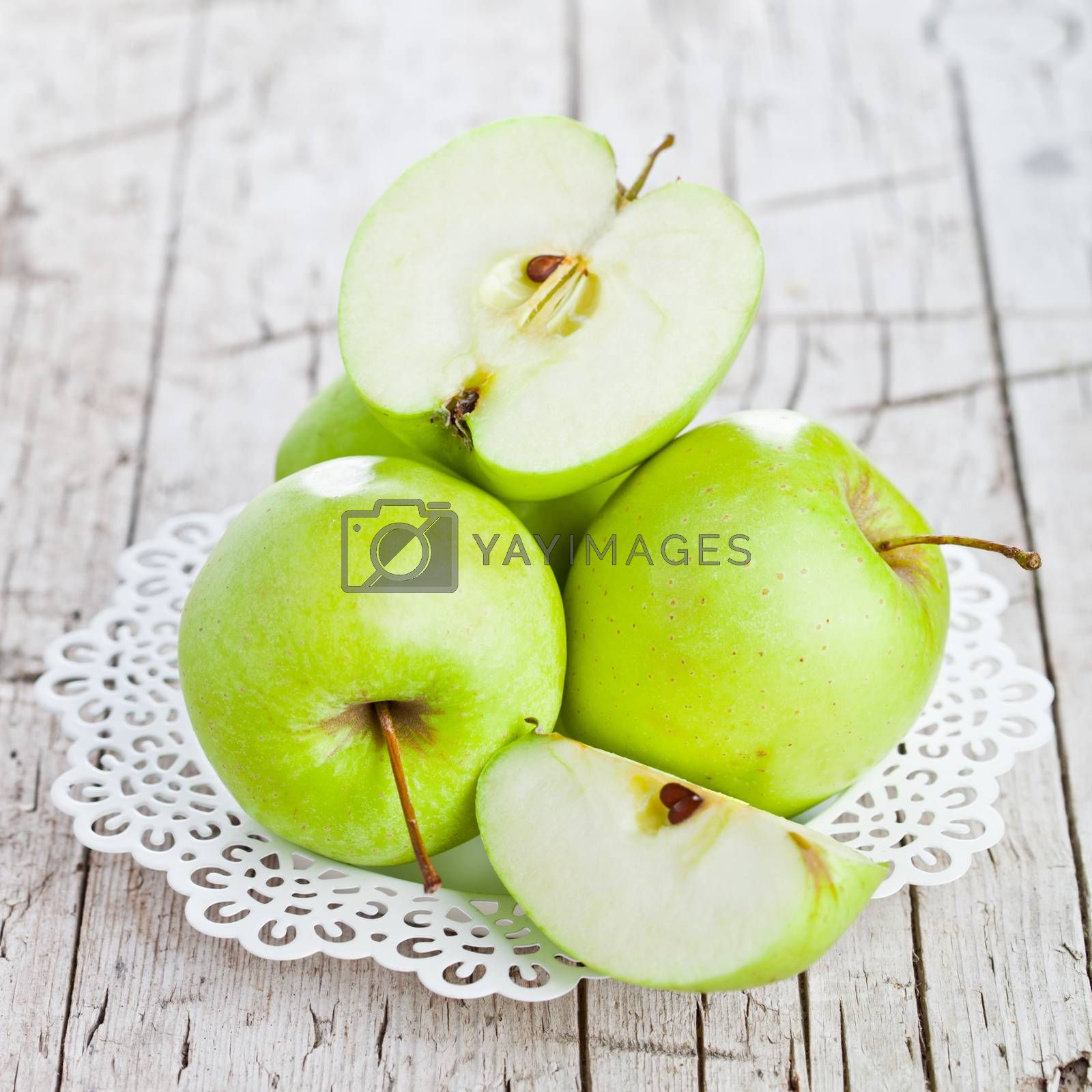 Royalty free image of ripe green apples  by marylooo