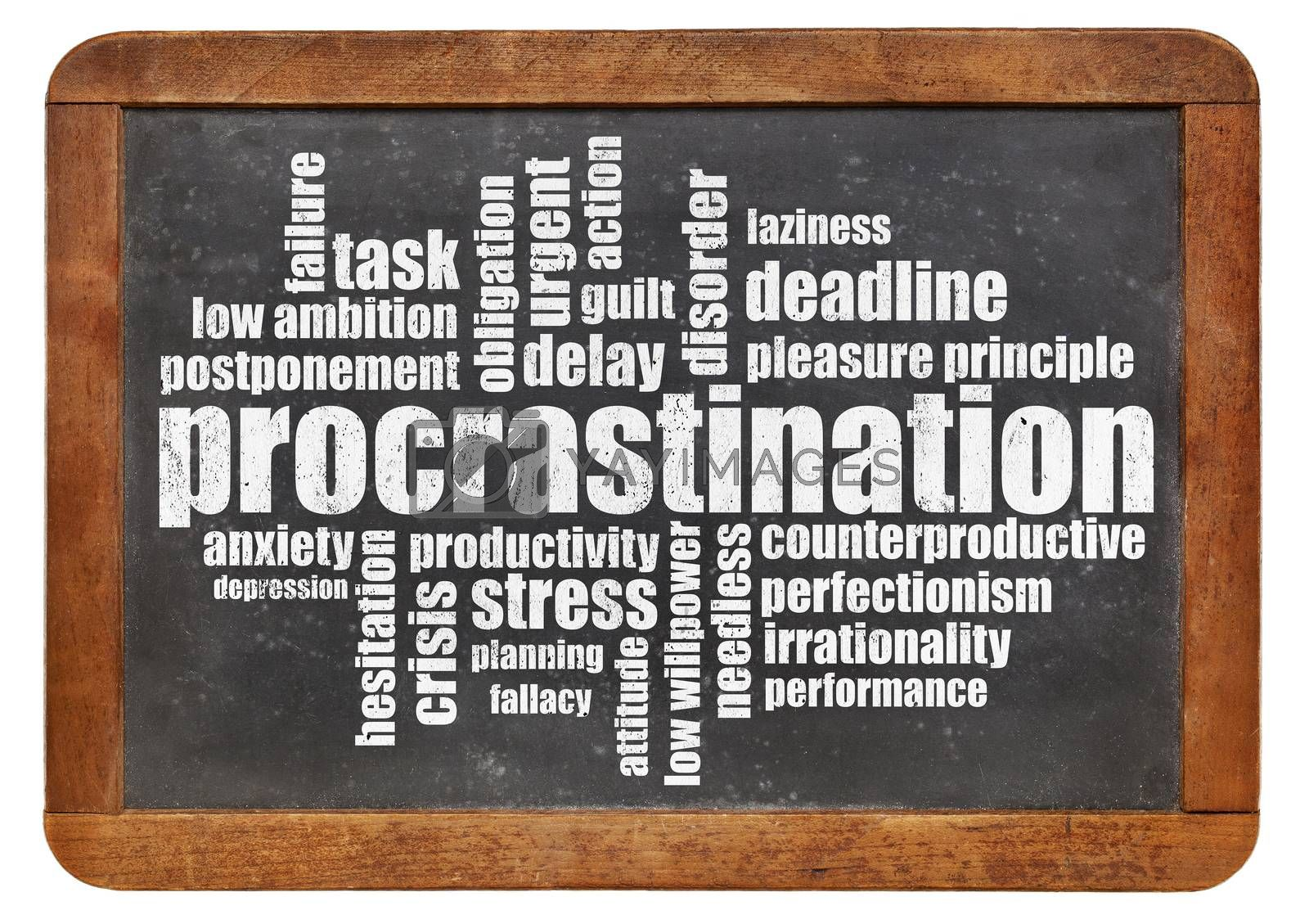 Royalty free image of procrastination word cloud by PixelsAway