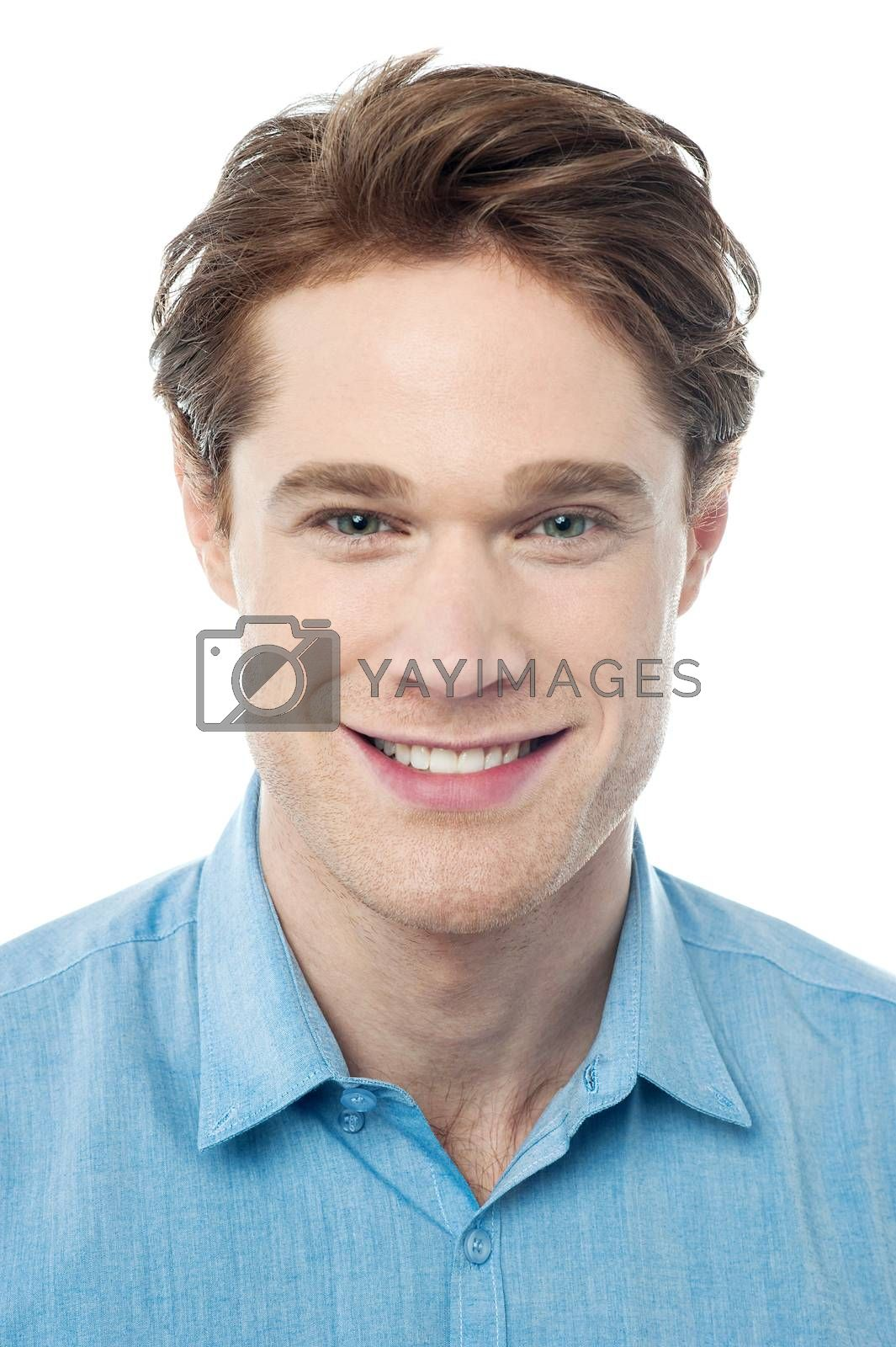Royalty free image of Portrait of a smart young guy by stockyimages