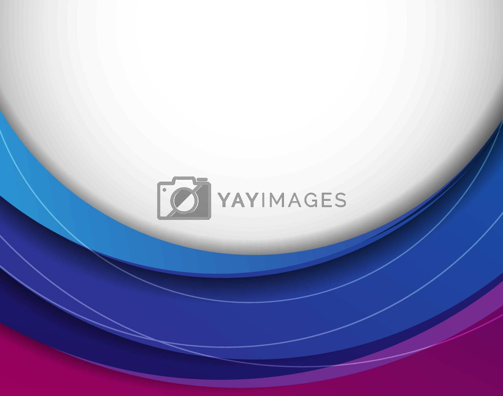 Royalty free image of Vector abstract background with colorful layers by marivlada