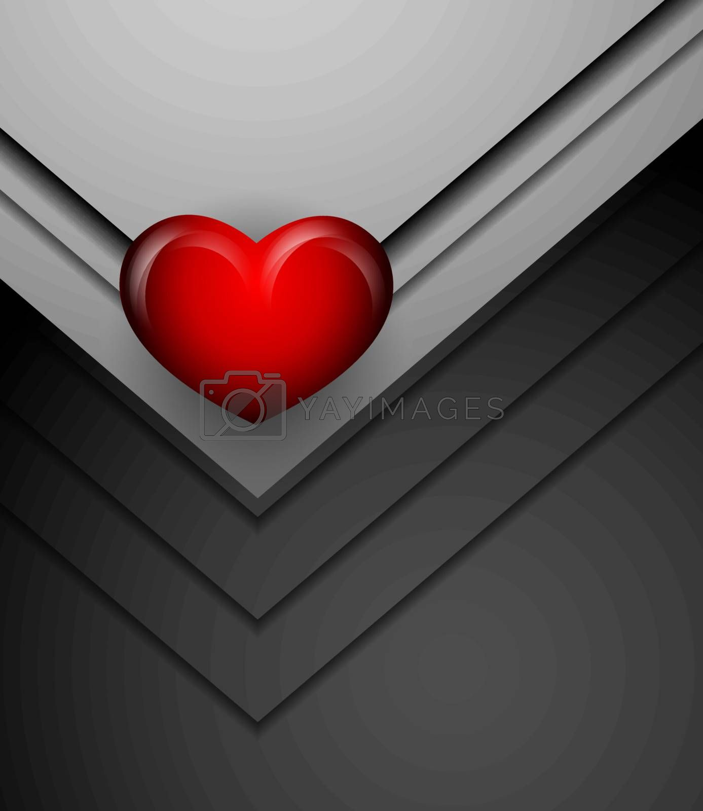 Royalty free image of vector background with  heart by marivlada