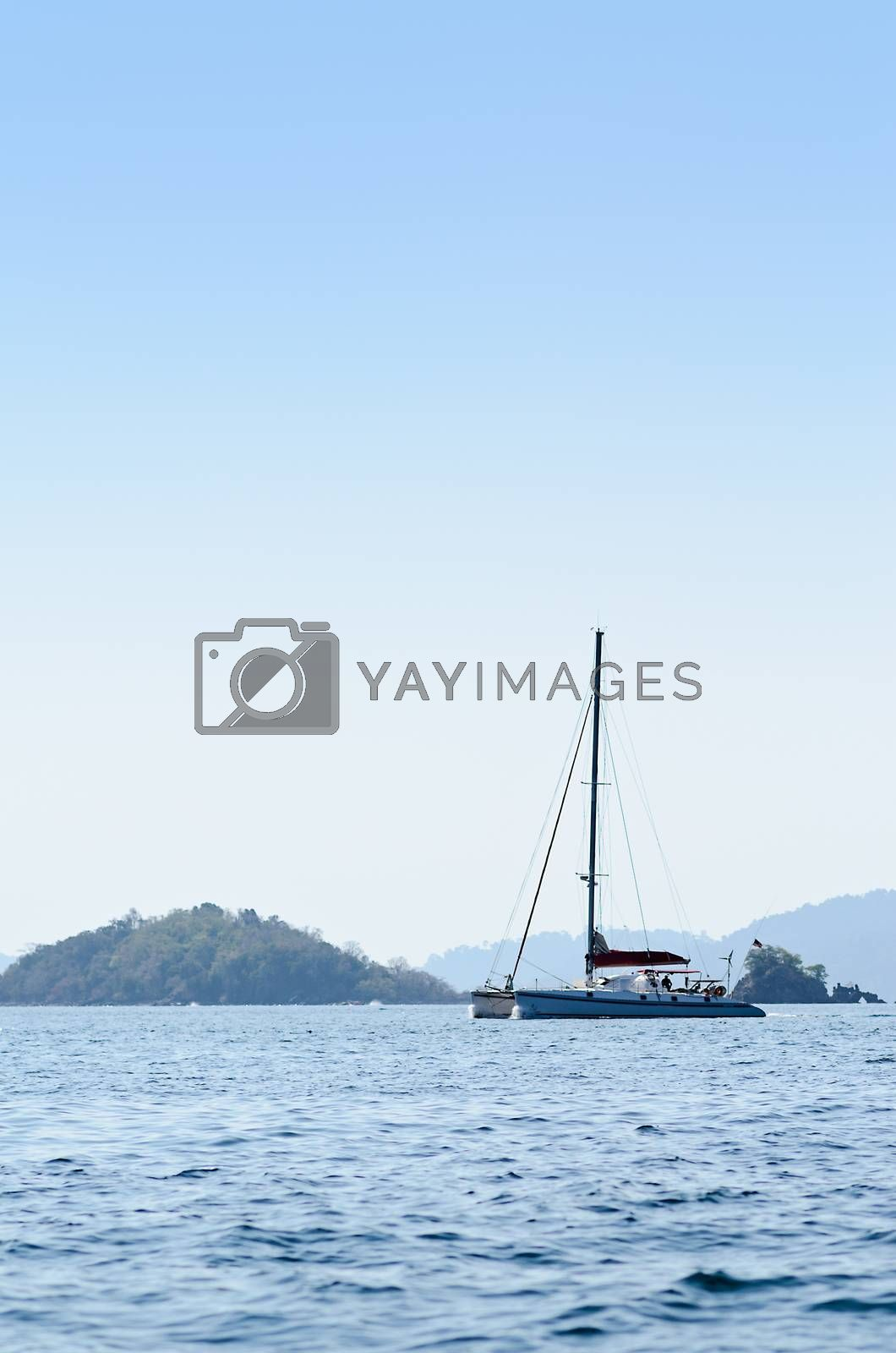 Royalty free image of Yatch in the blue sea in Thailand by hatoriz