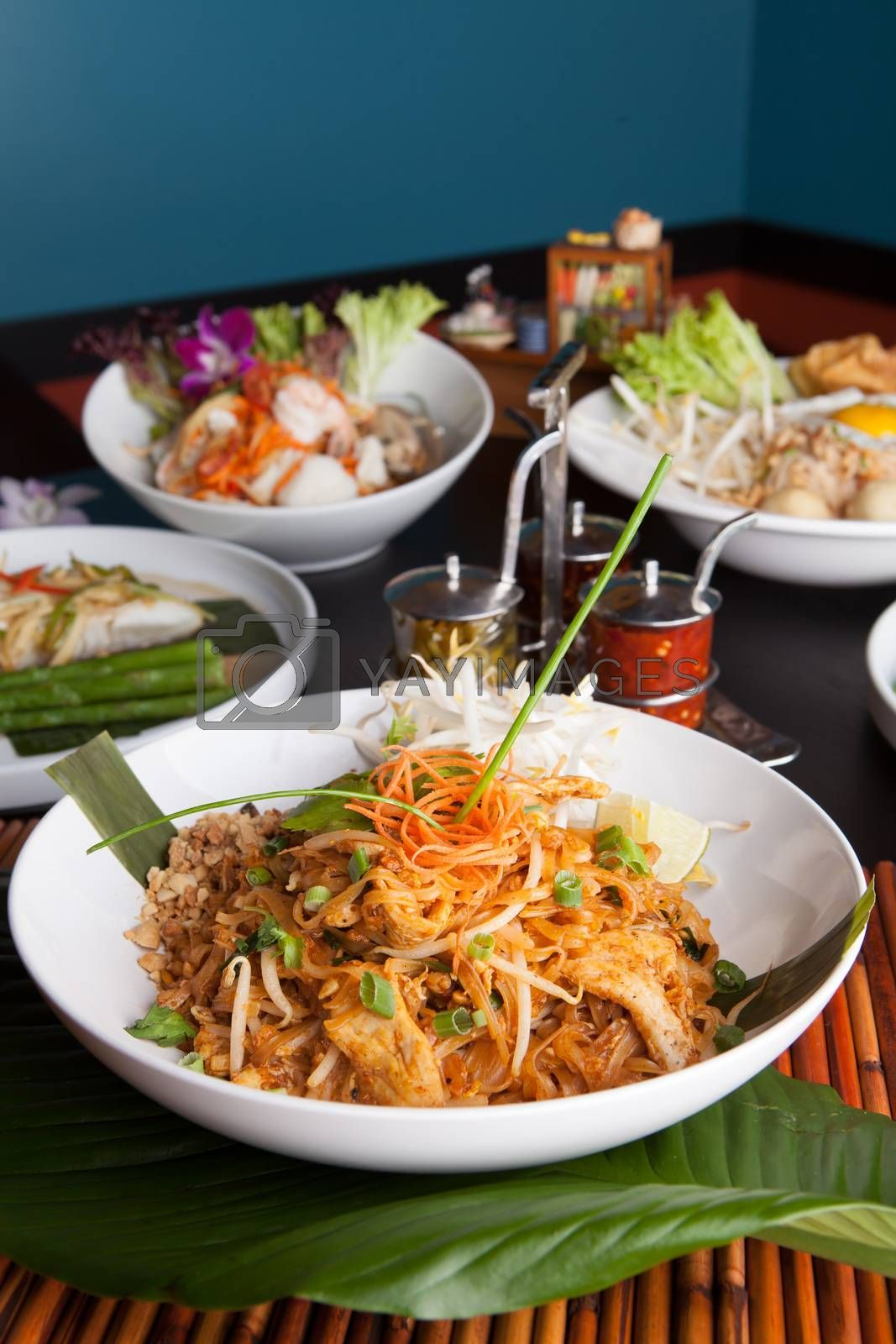 Royalty free image of Chicken Pad Thai Dish by graficallyminded