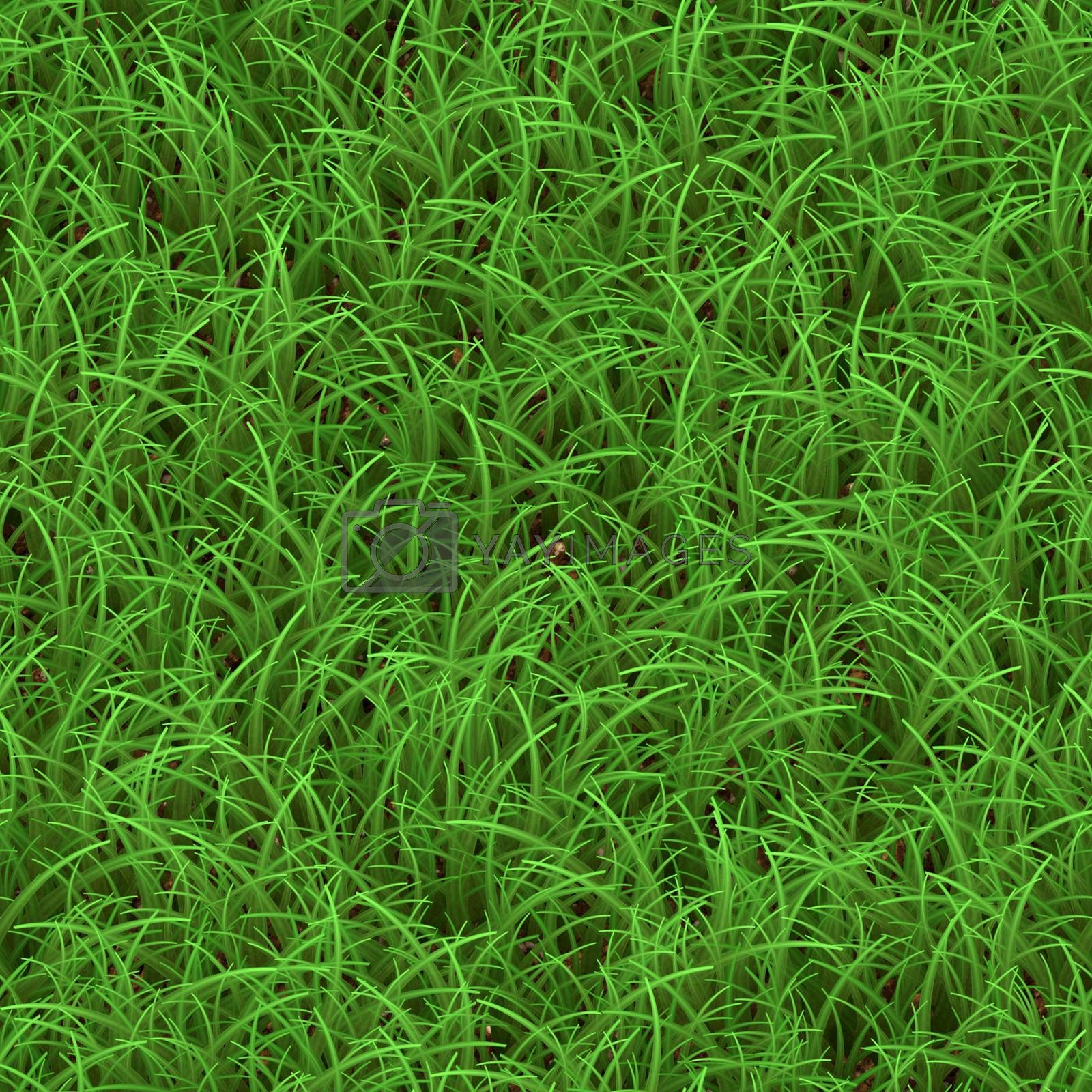 Green grass texture that tiles seamlessly as a pattern.