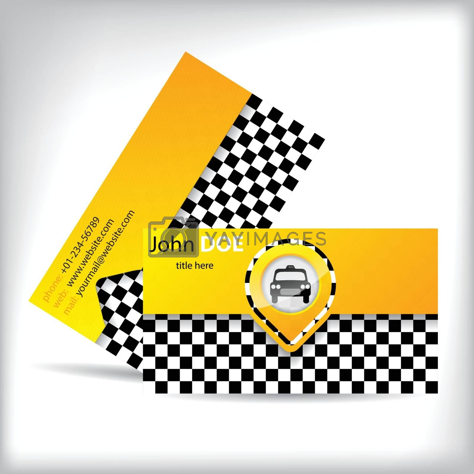 Business card design with car symbol by vipervxw