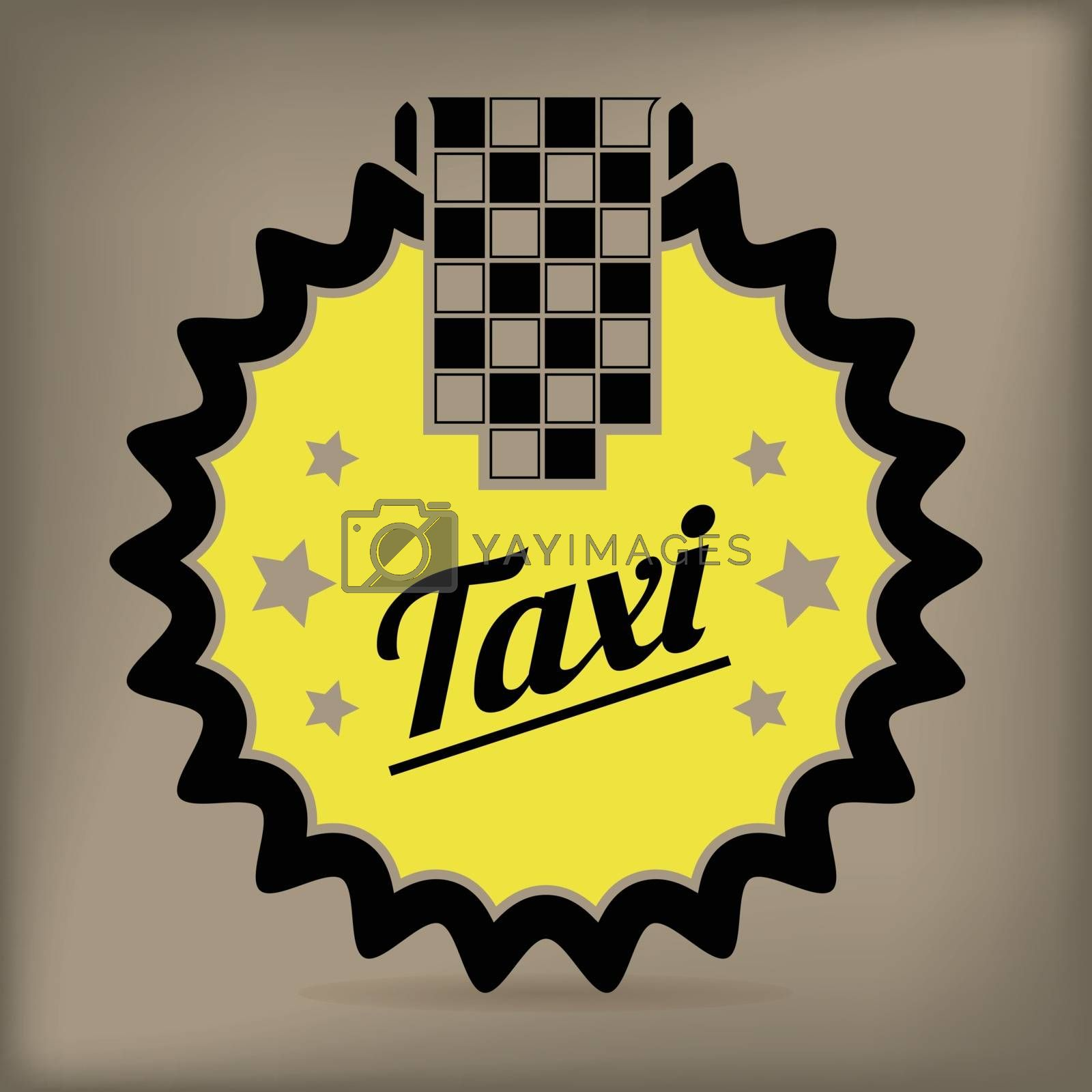 Royalty free image of Taxi badge design by vipervxw