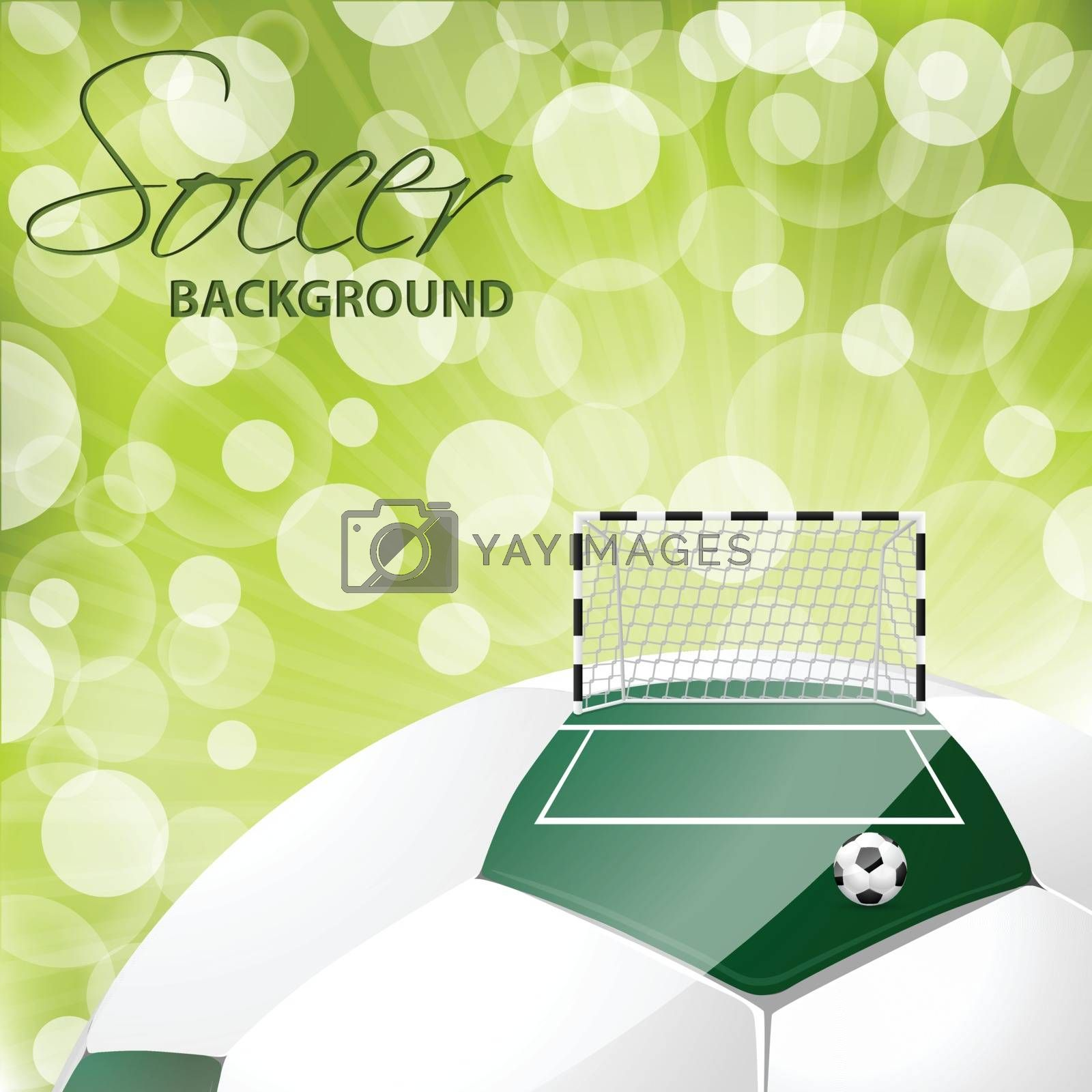 Royalty free image of Cool soccer background design by vipervxw