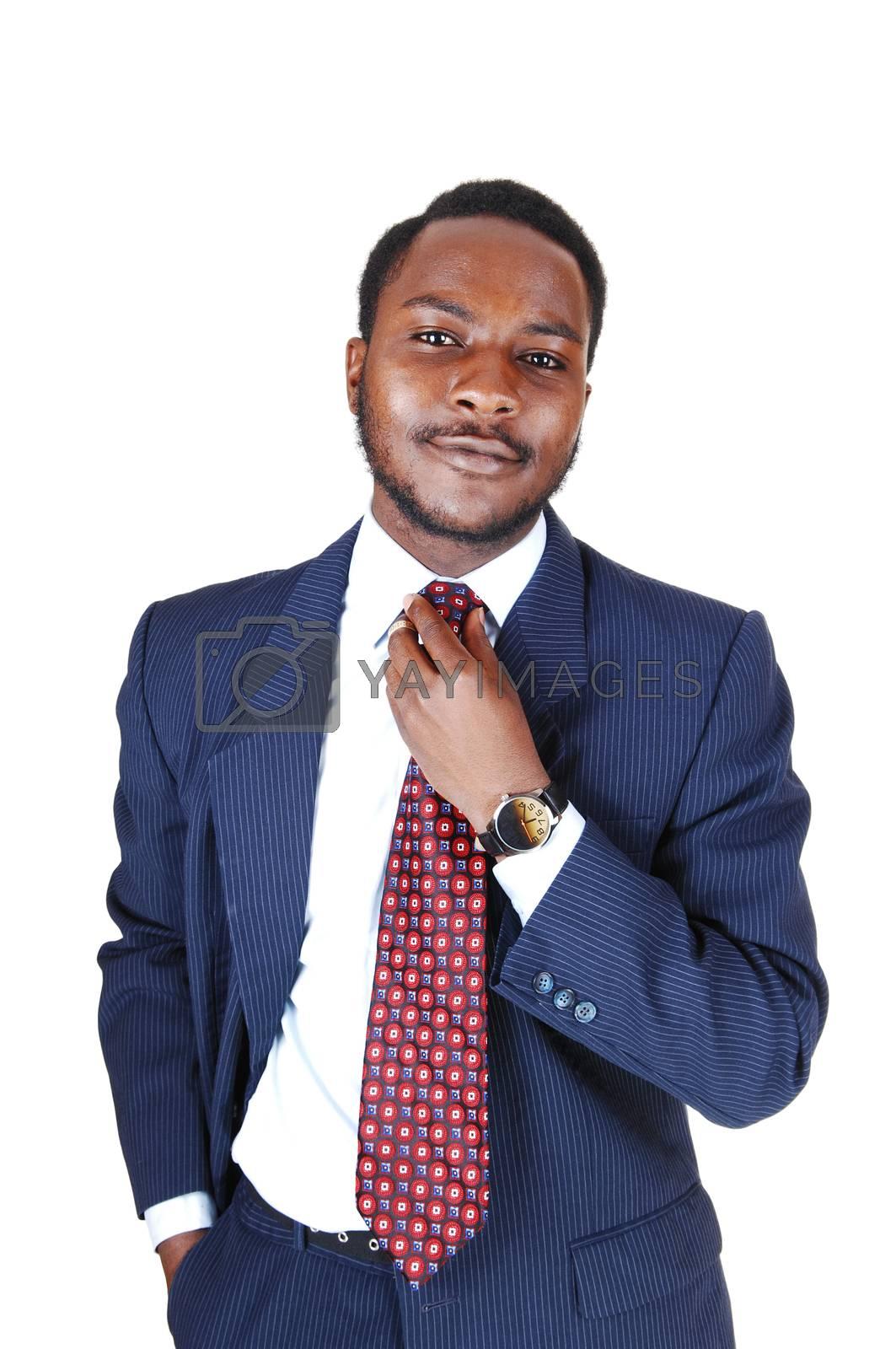 Black man in business suit.  by feierabend