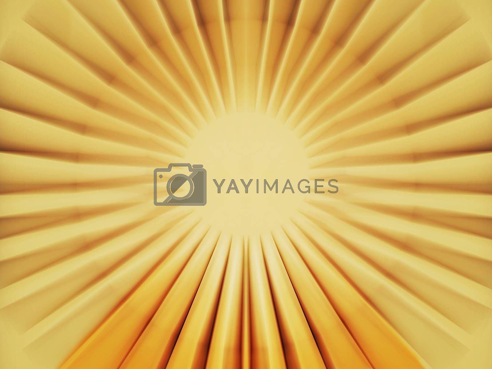 Royalty free image of Walkway to sun by fjanecic