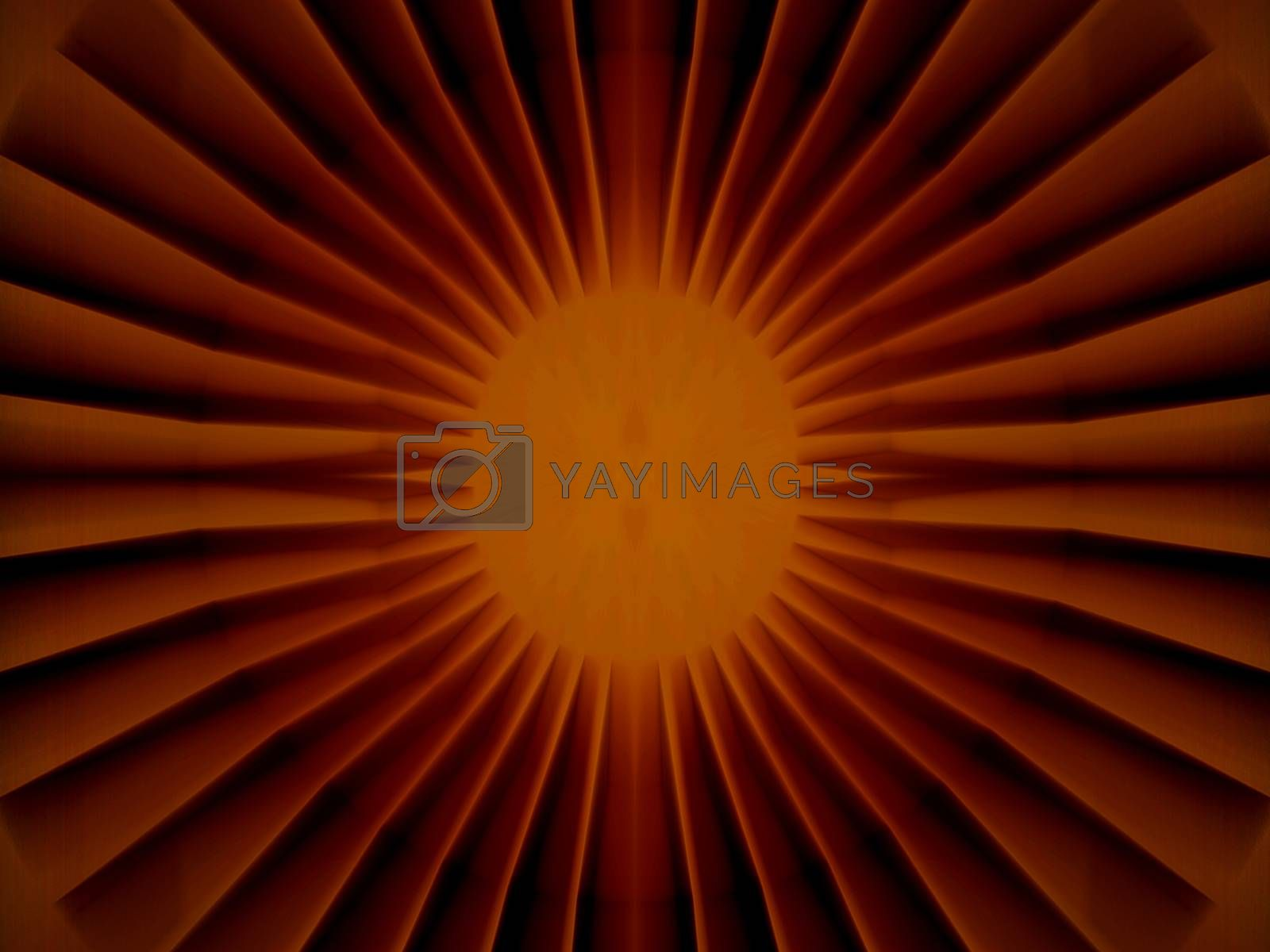 Royalty free image of Bright inner core structure, red sun by fjanecic