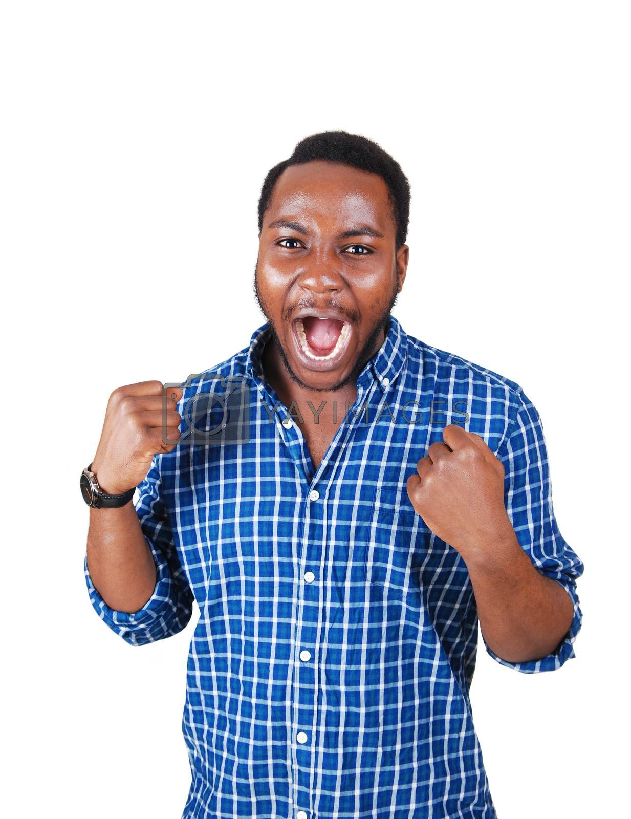 Royalty free image of Happy black man. by feierabend
