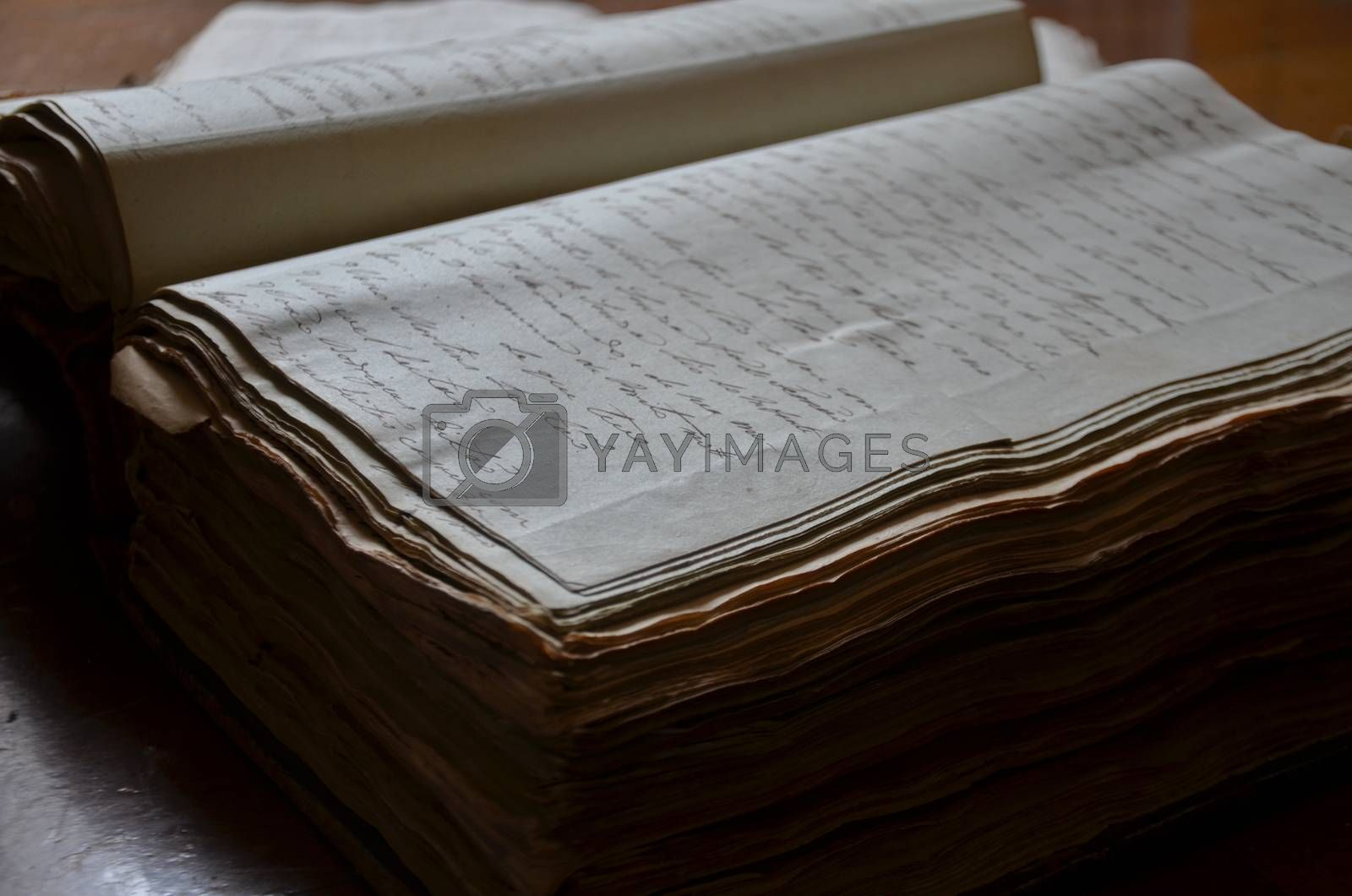 Royalty free image of old book close up by afonsoasneves