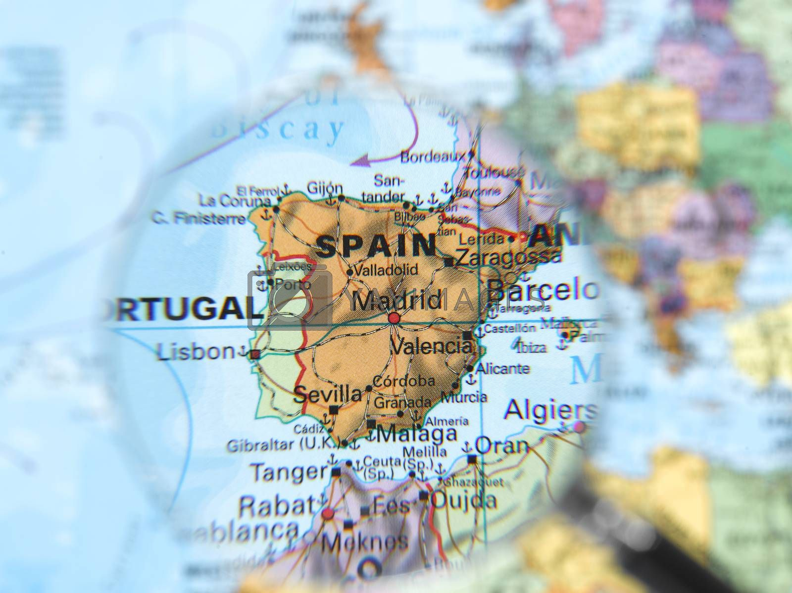 Royalty free image of Destination Spain by emirkoo