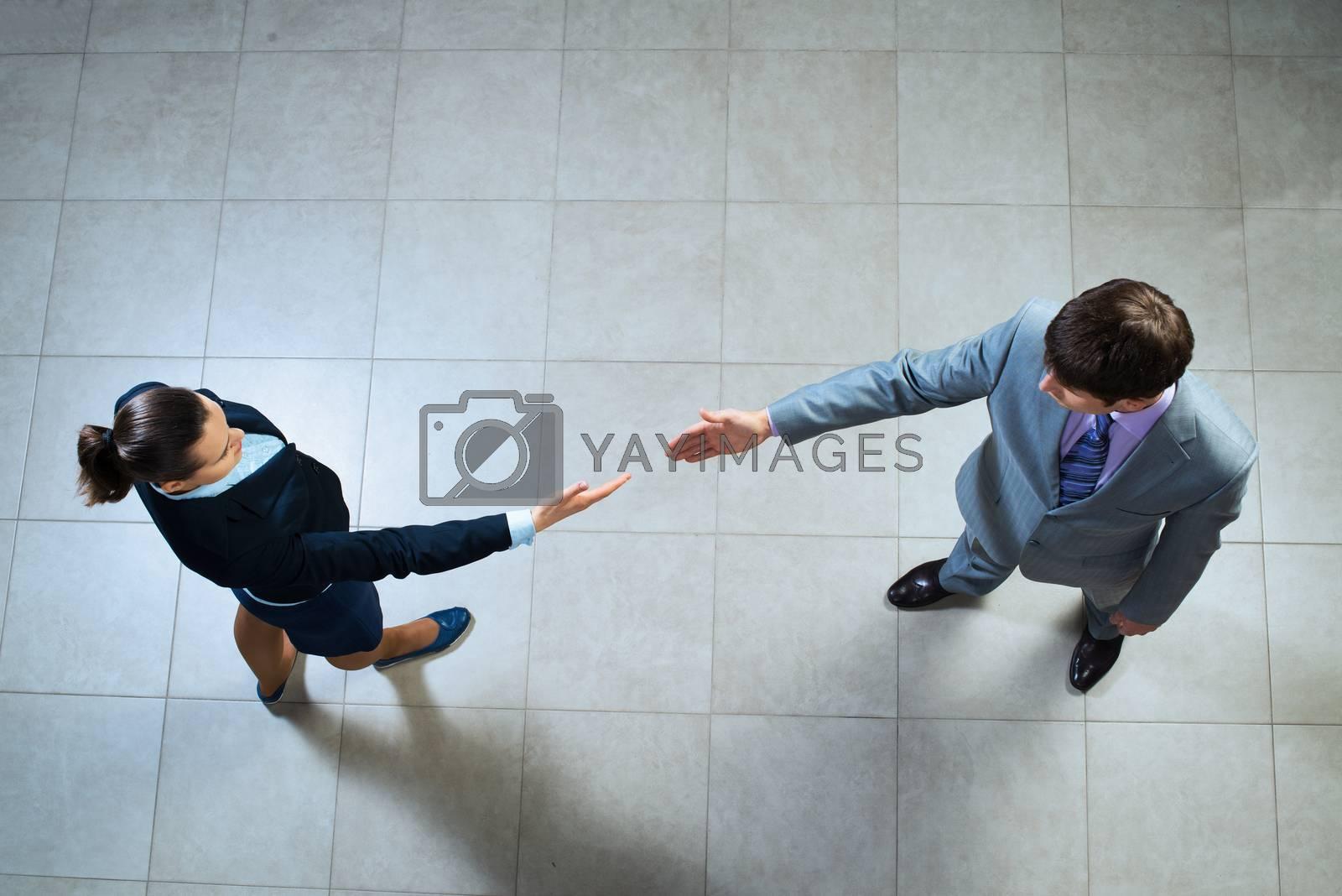 Royalty free image of future handshake by adam121