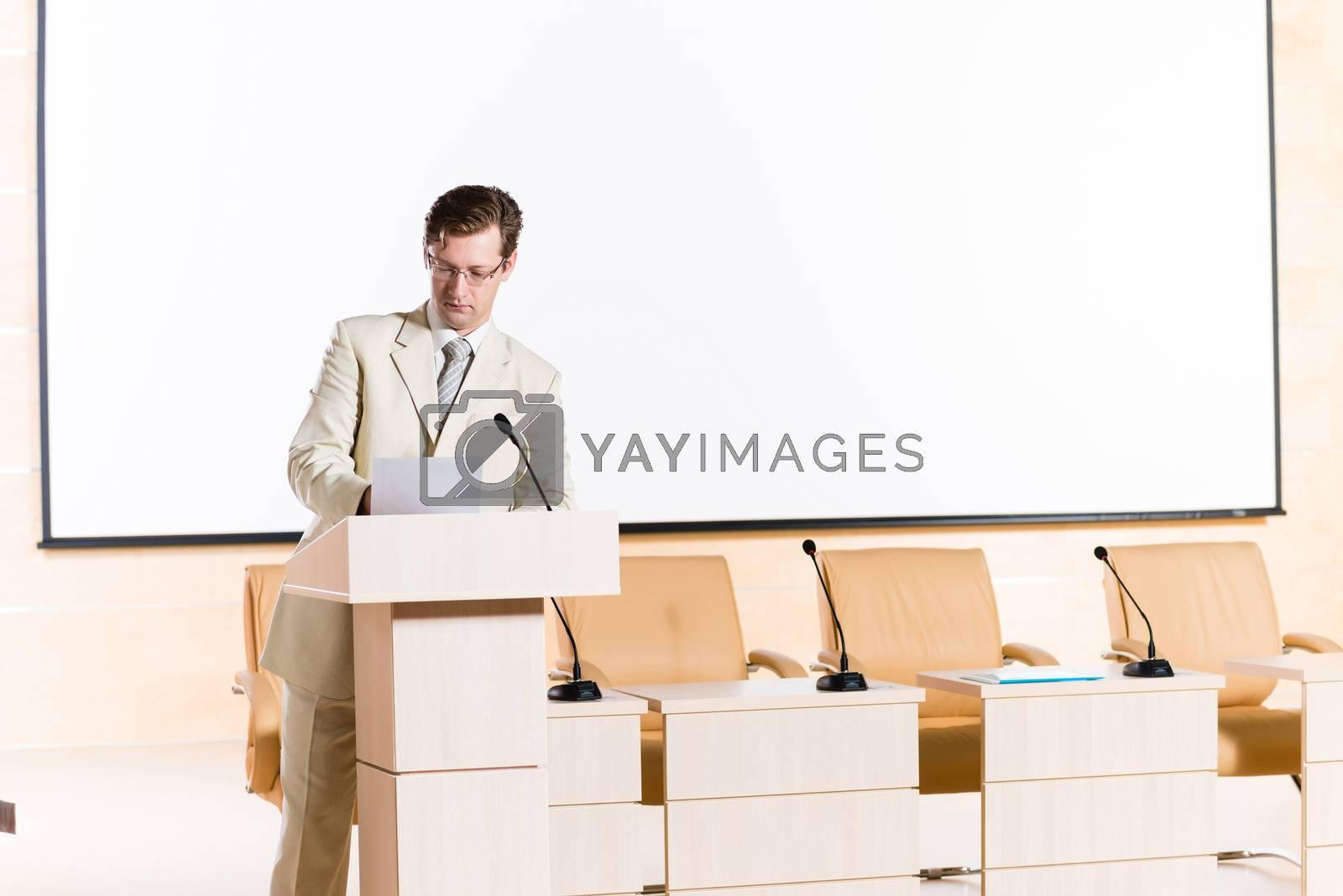 Royalty free image of male speaker by adam121
