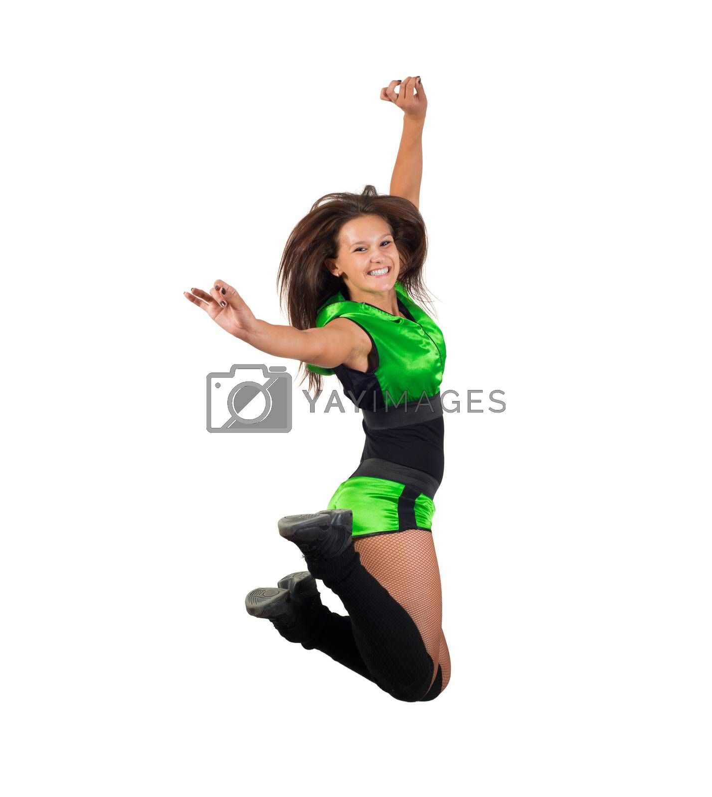 Royalty free image of athletic young woman jumping by adam121