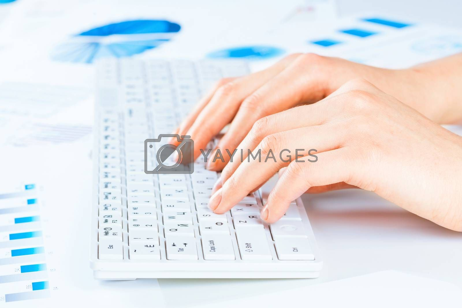 Royalty free image of woman prints by adam121