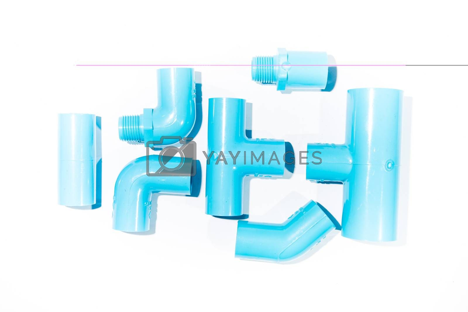 Royalty free image of Blue pvc by tuchkay