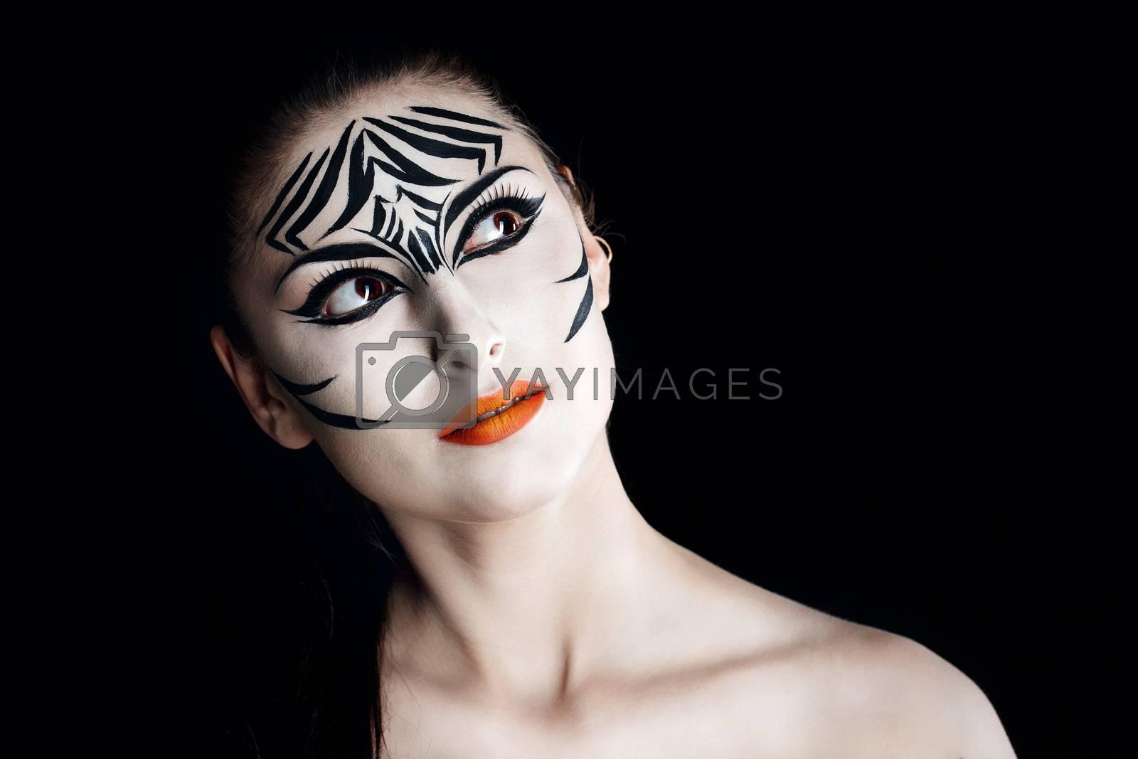 Royalty free image of Girl zebra by Vagengeym