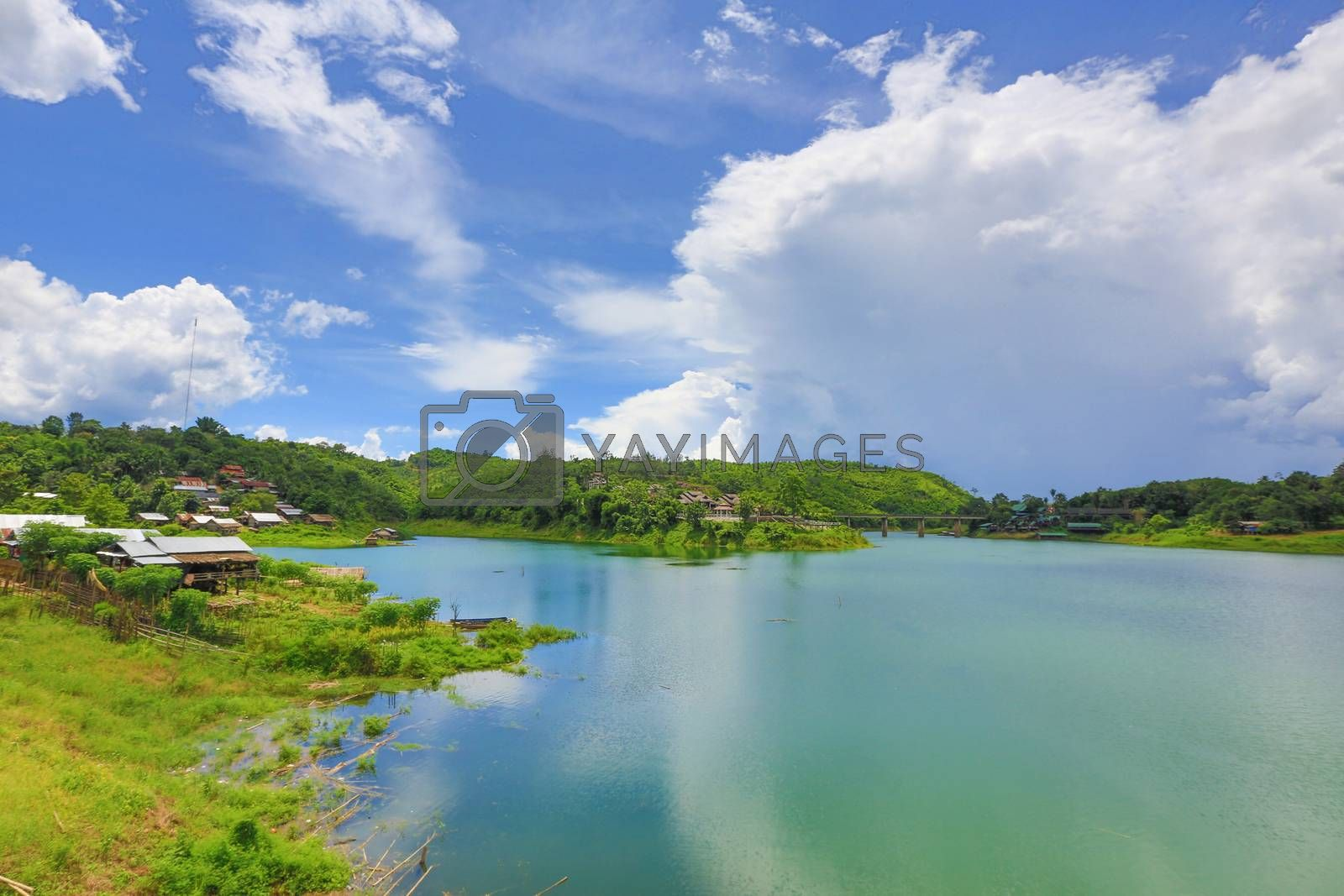 Royalty free image of the river by tuchkay