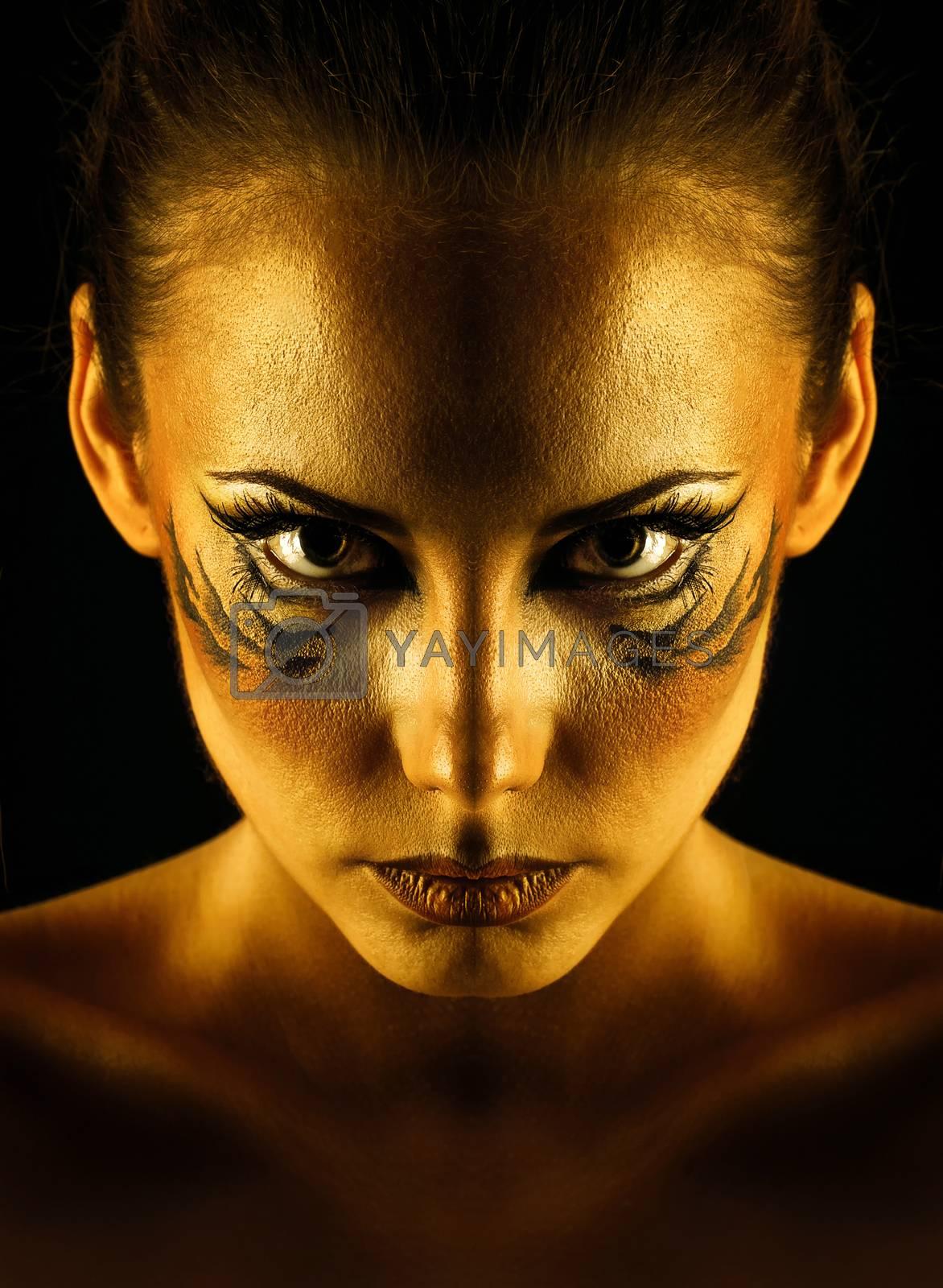 Royalty free image of Girl tigress by Vagengeym