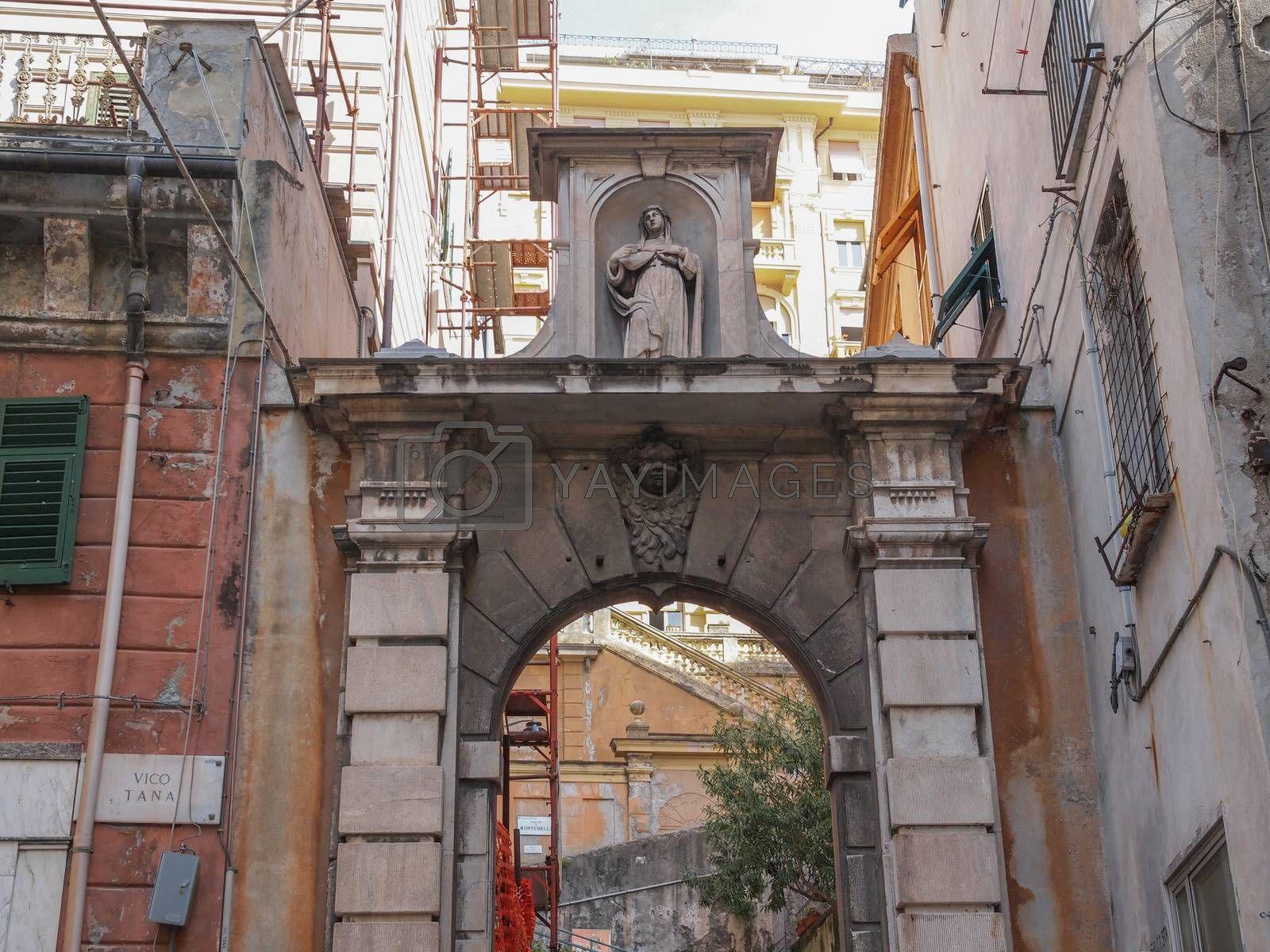 Royalty free image of Genoa old town by claudiodivizia