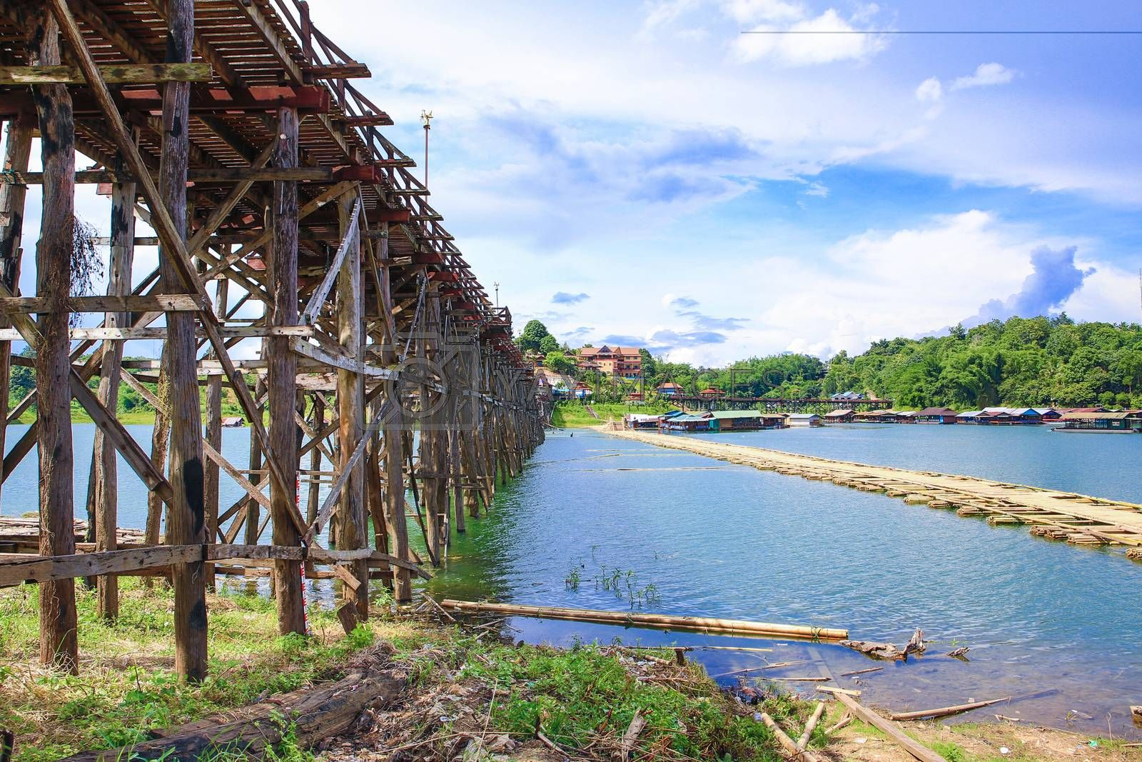 Royalty free image of Wooden bridge  by tuchkay