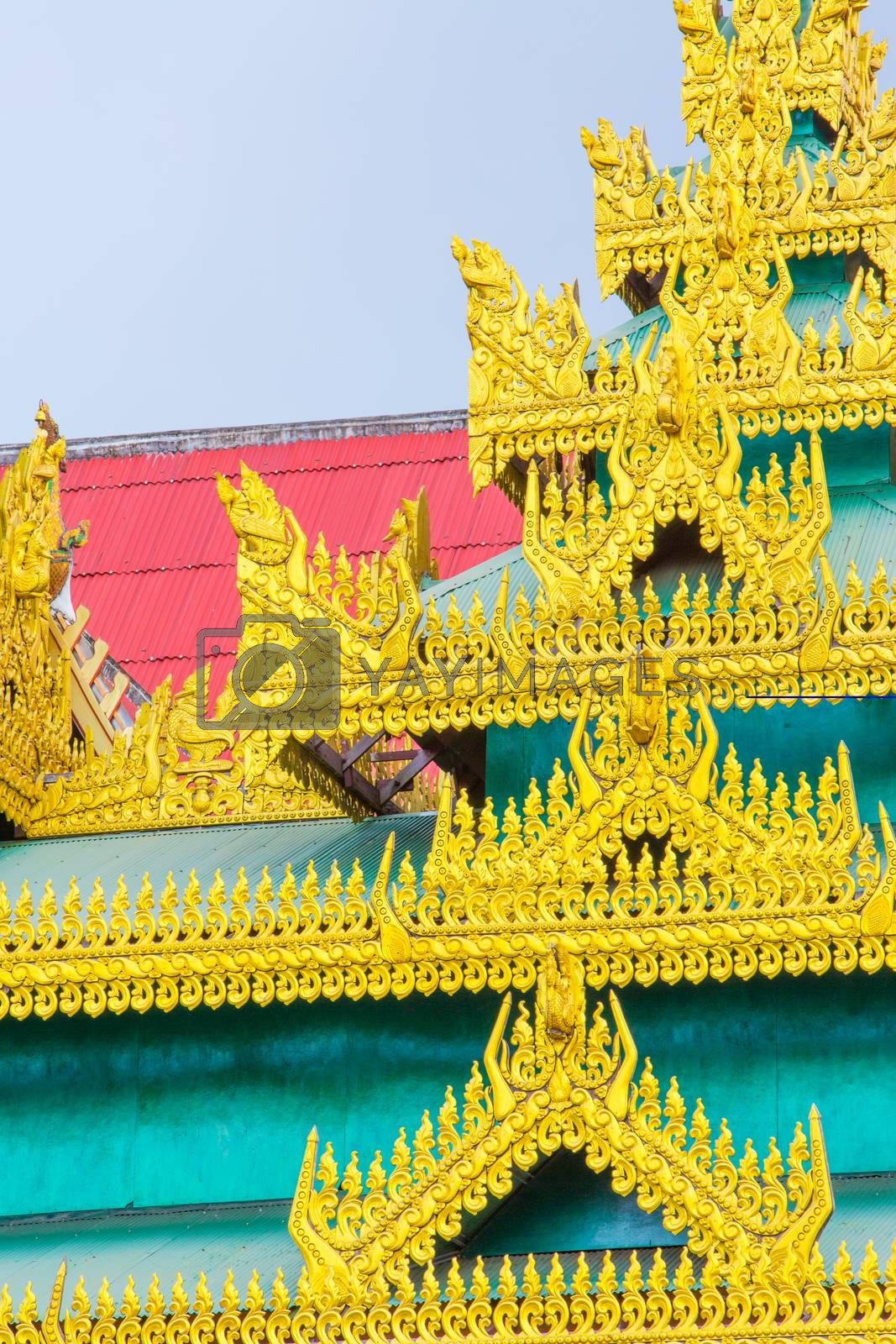 Royalty free image of Burmese temple by tuchkay