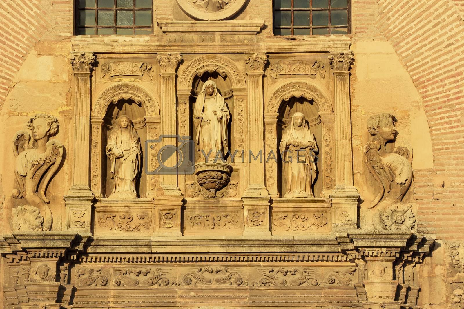 Royalty free image of Statues Facade Church Iglesia of Santa Anna Rio Darro Granada by bill_perry