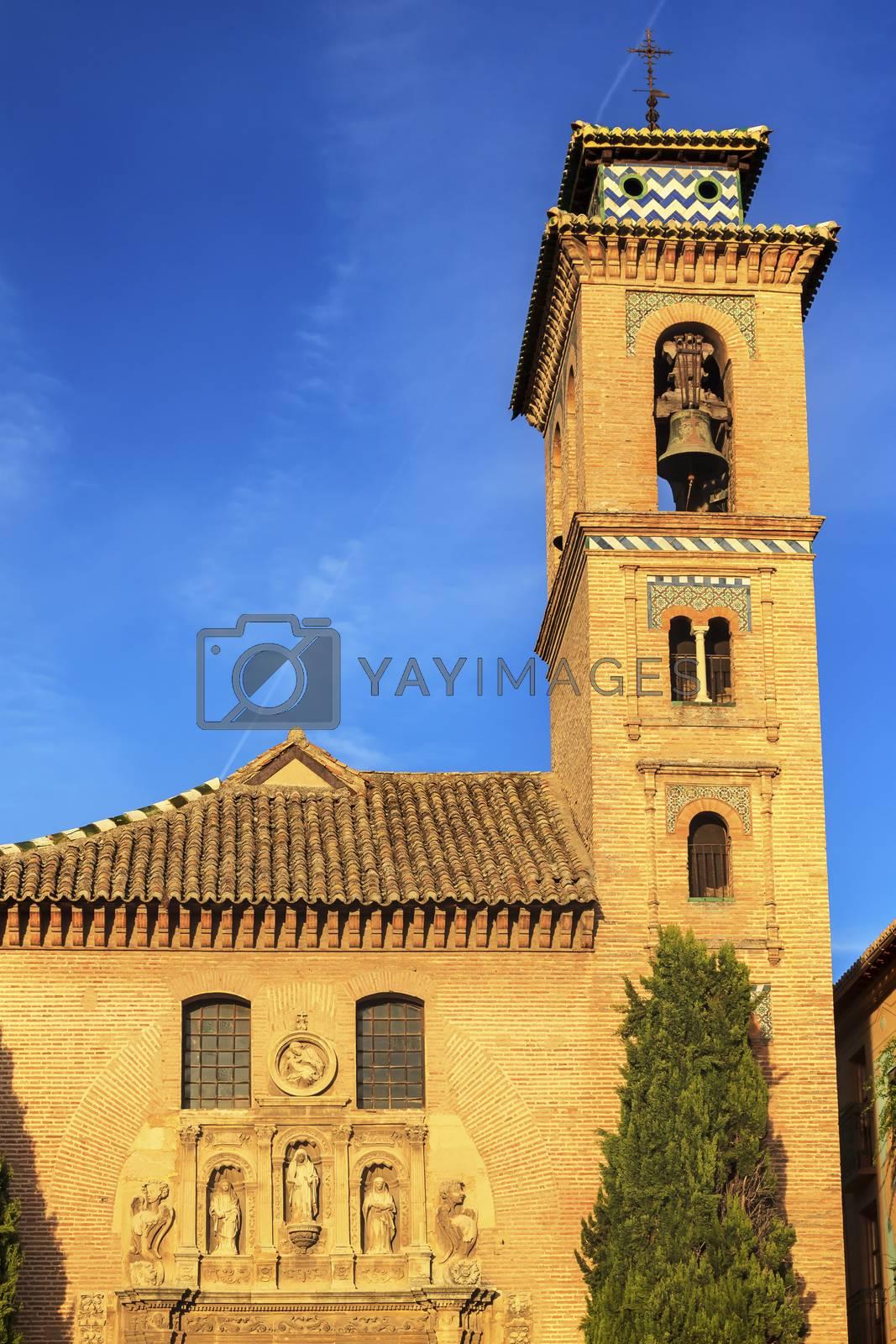 Royalty free image of Church Iglesia of Santa Anna Rio Darro Granada Andalusia Spain by bill_perry
