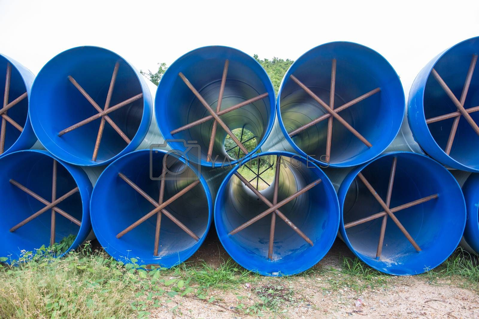 Royalty free image of water pipe by tuchkay
