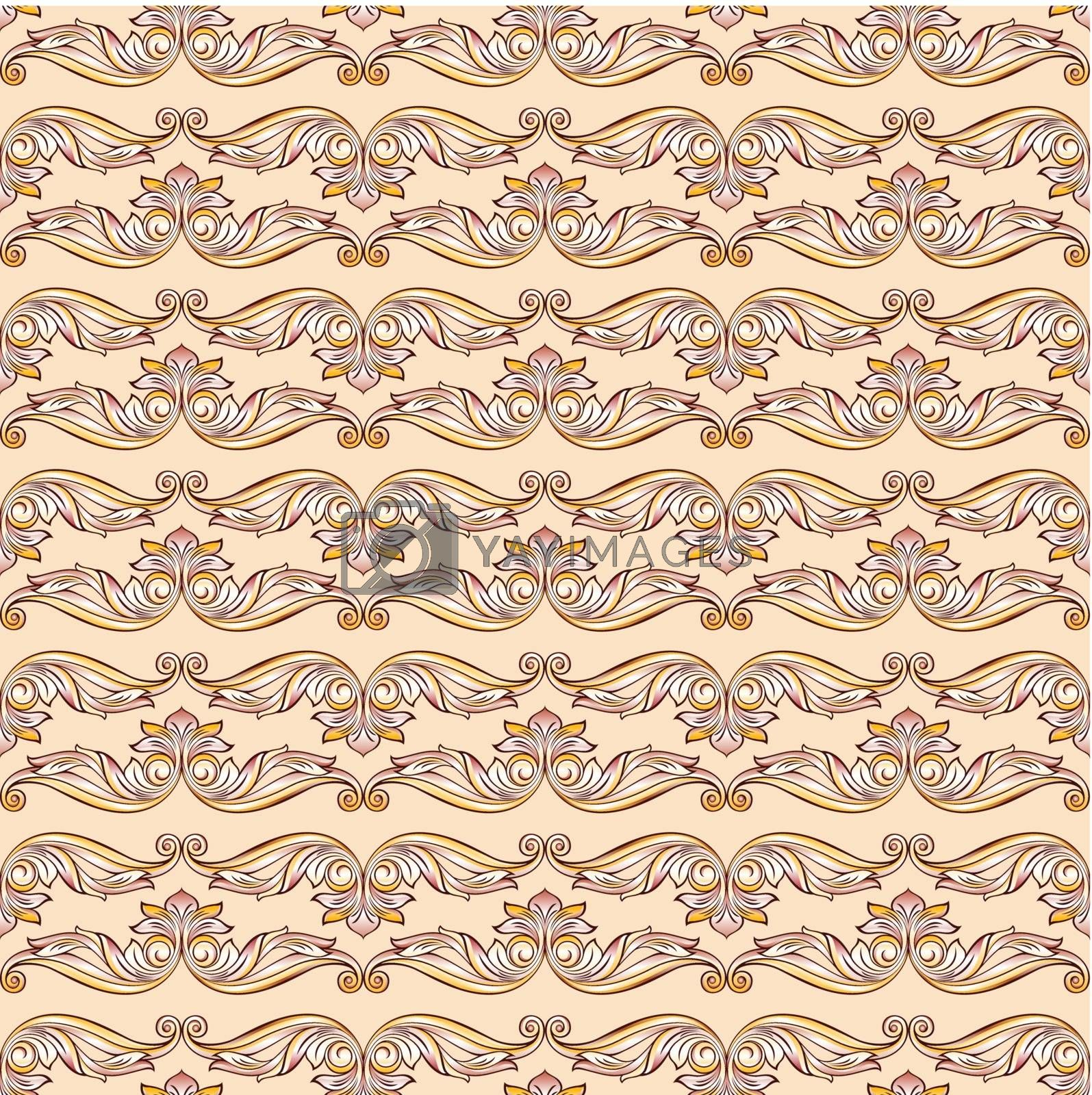 Seamless floral pattern by dvarg