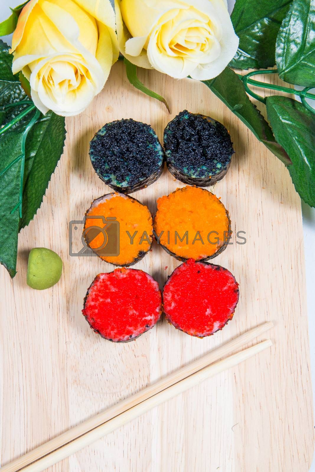 Royalty free image of sushi by tuchkay