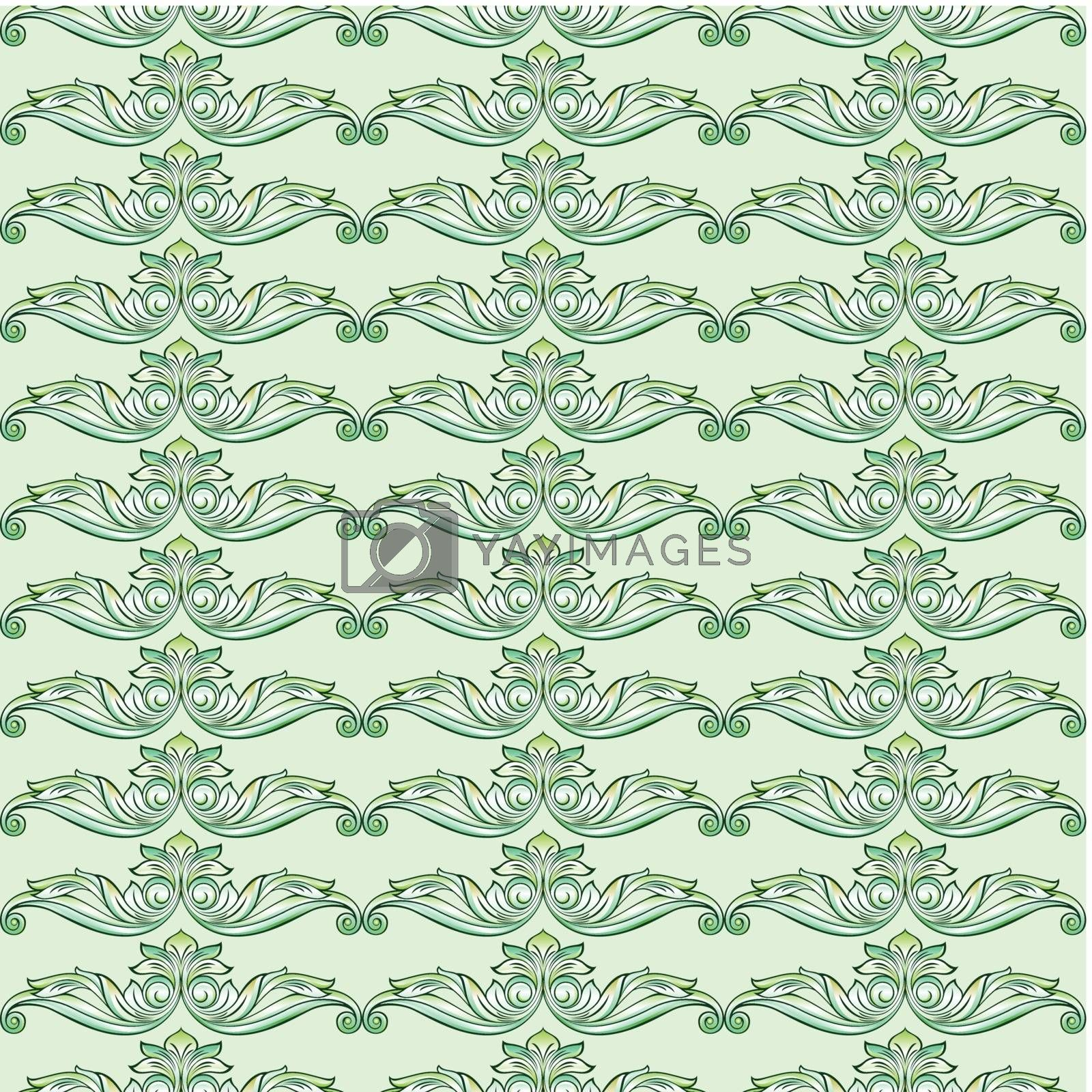 Royalty free image of Seamless floral pattern by dvarg