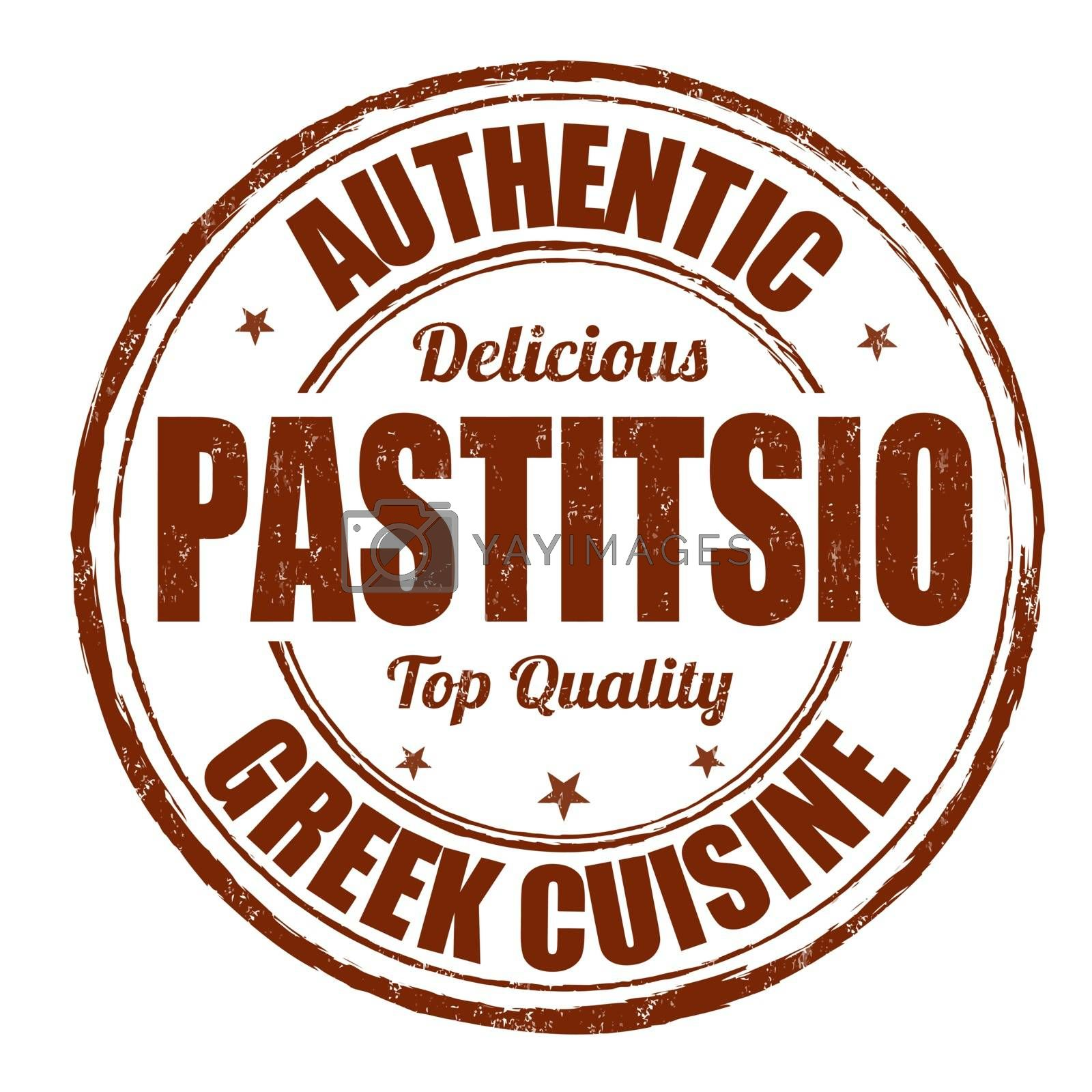 Royalty free image of Pastitsio stamp by roxanabalint