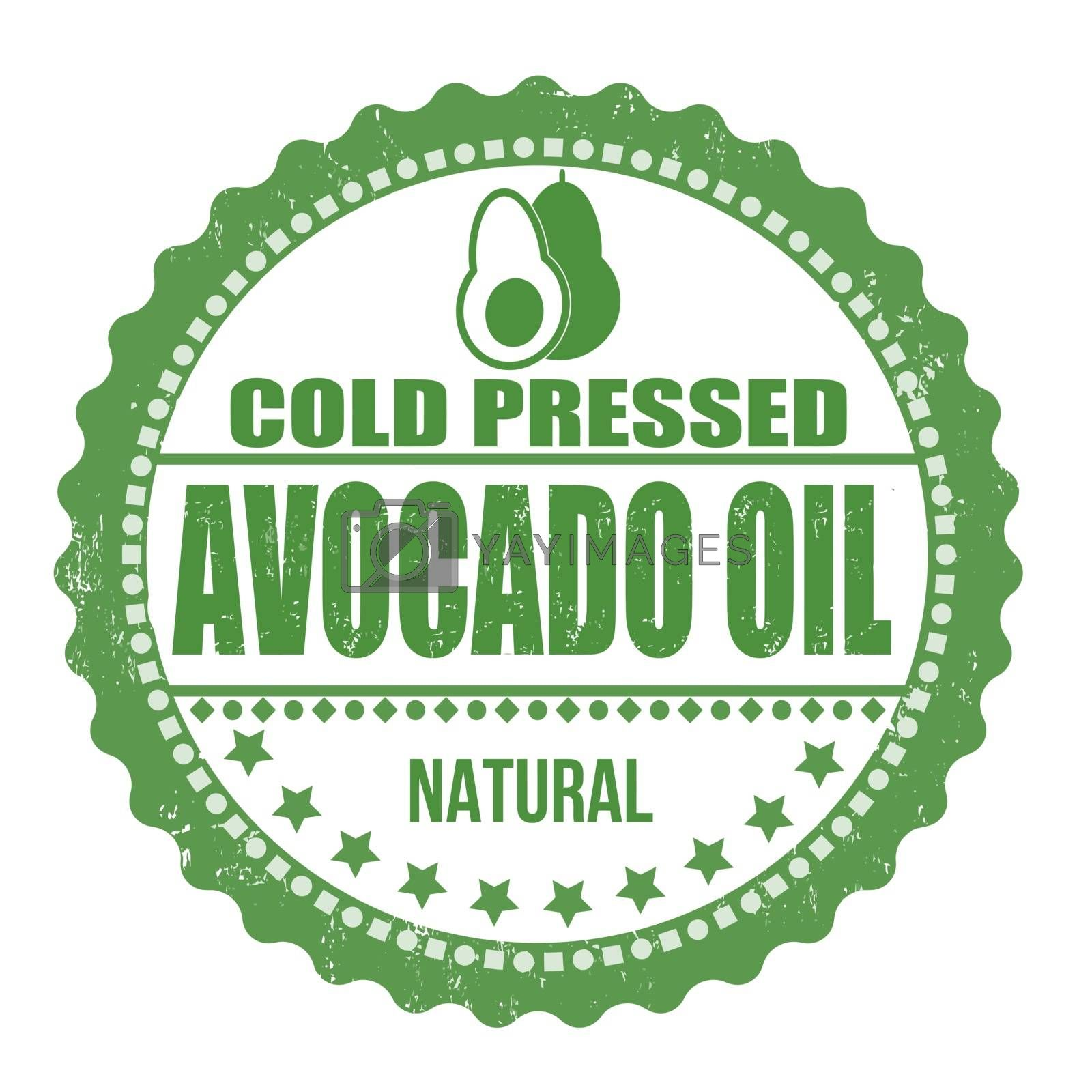 Avocado oil stamp by roxanabalint