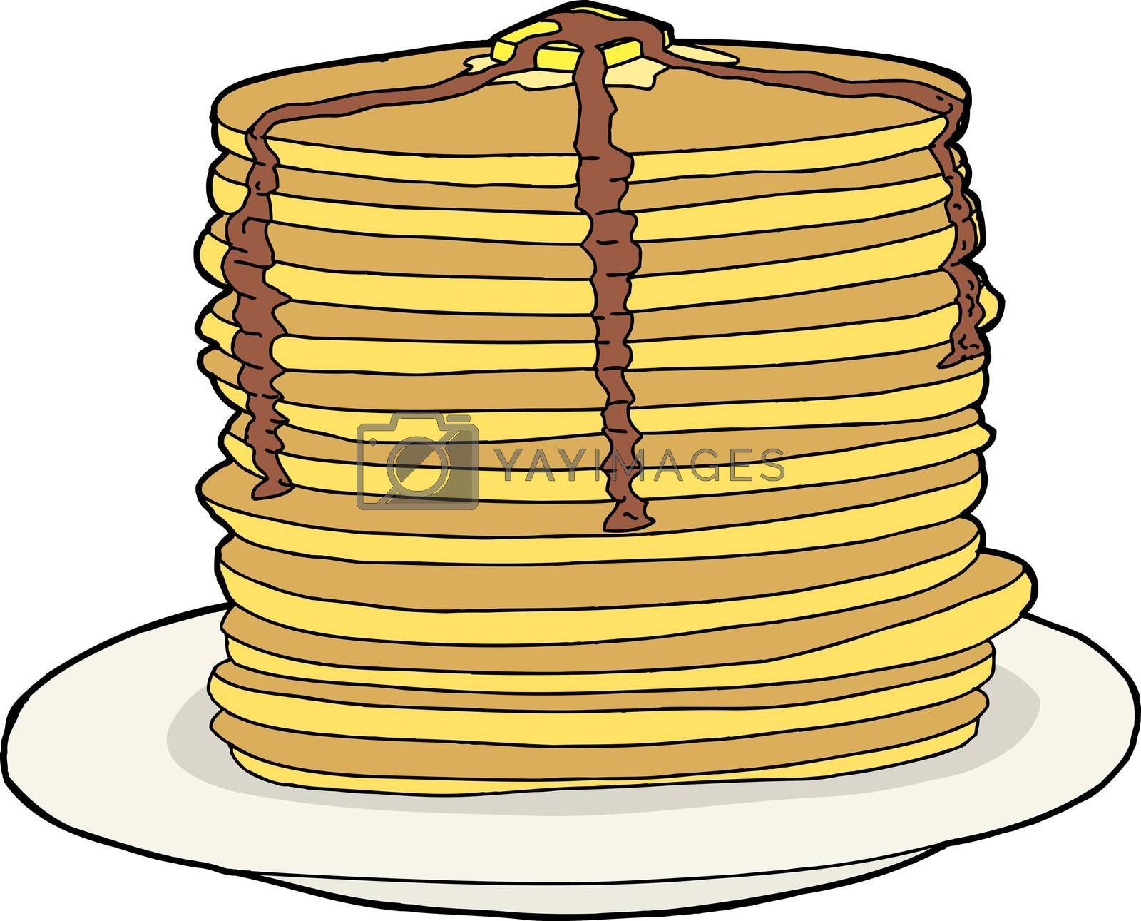 Royalty free image of Isolated Pancakes by TheBlackRhino