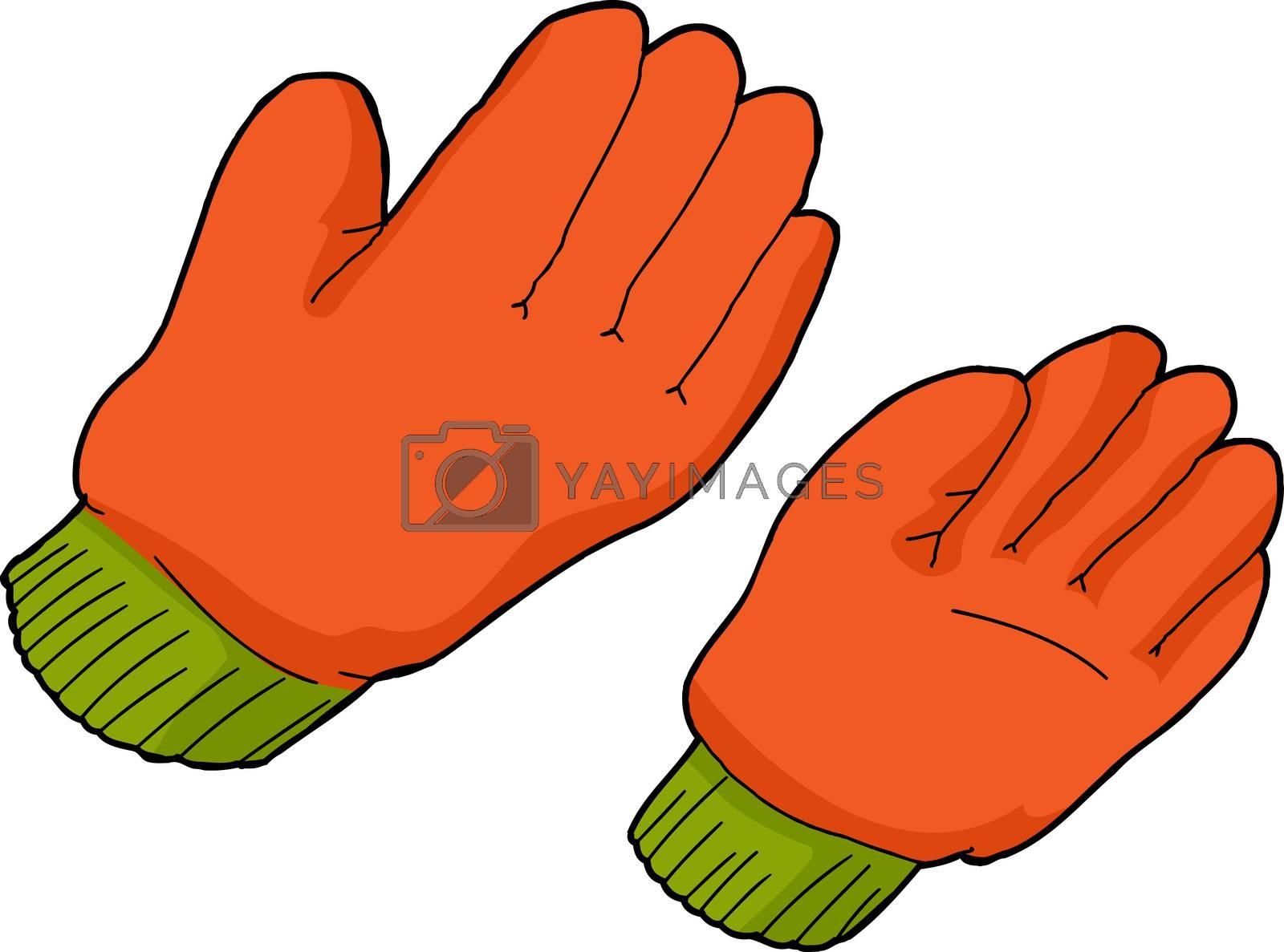 Royalty free image of Orange Work Gloves by TheBlackRhino