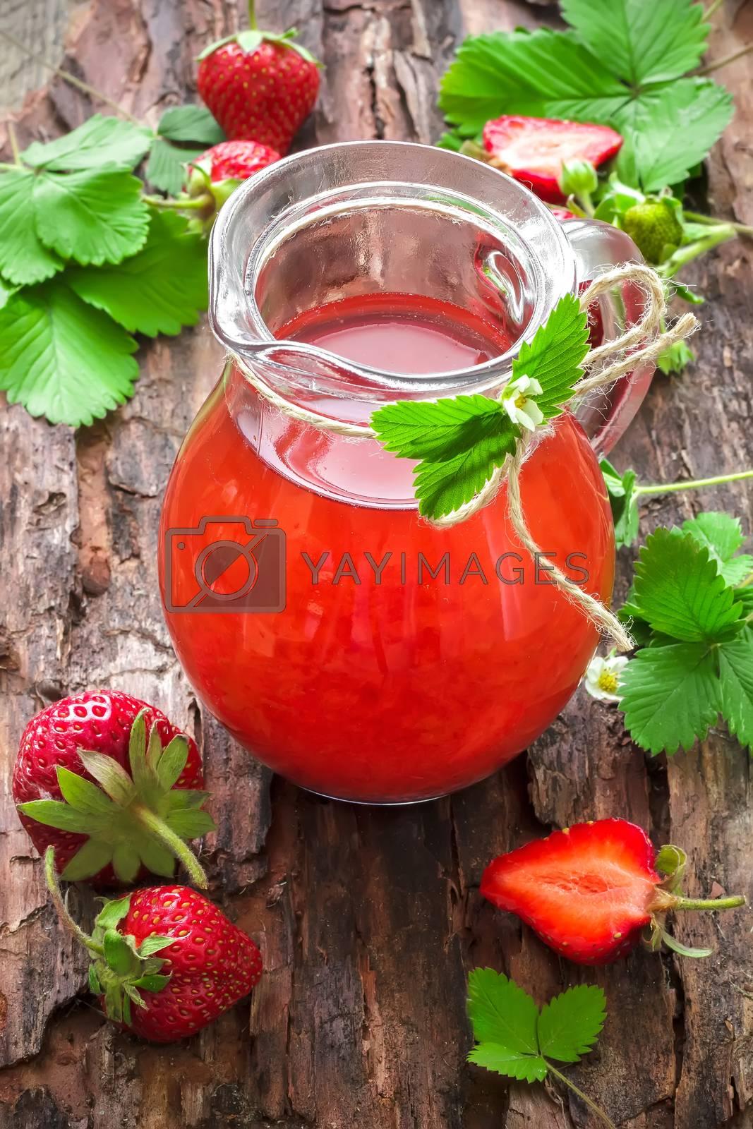 Royalty free image of Strawberry juice by yelenayemchuk
