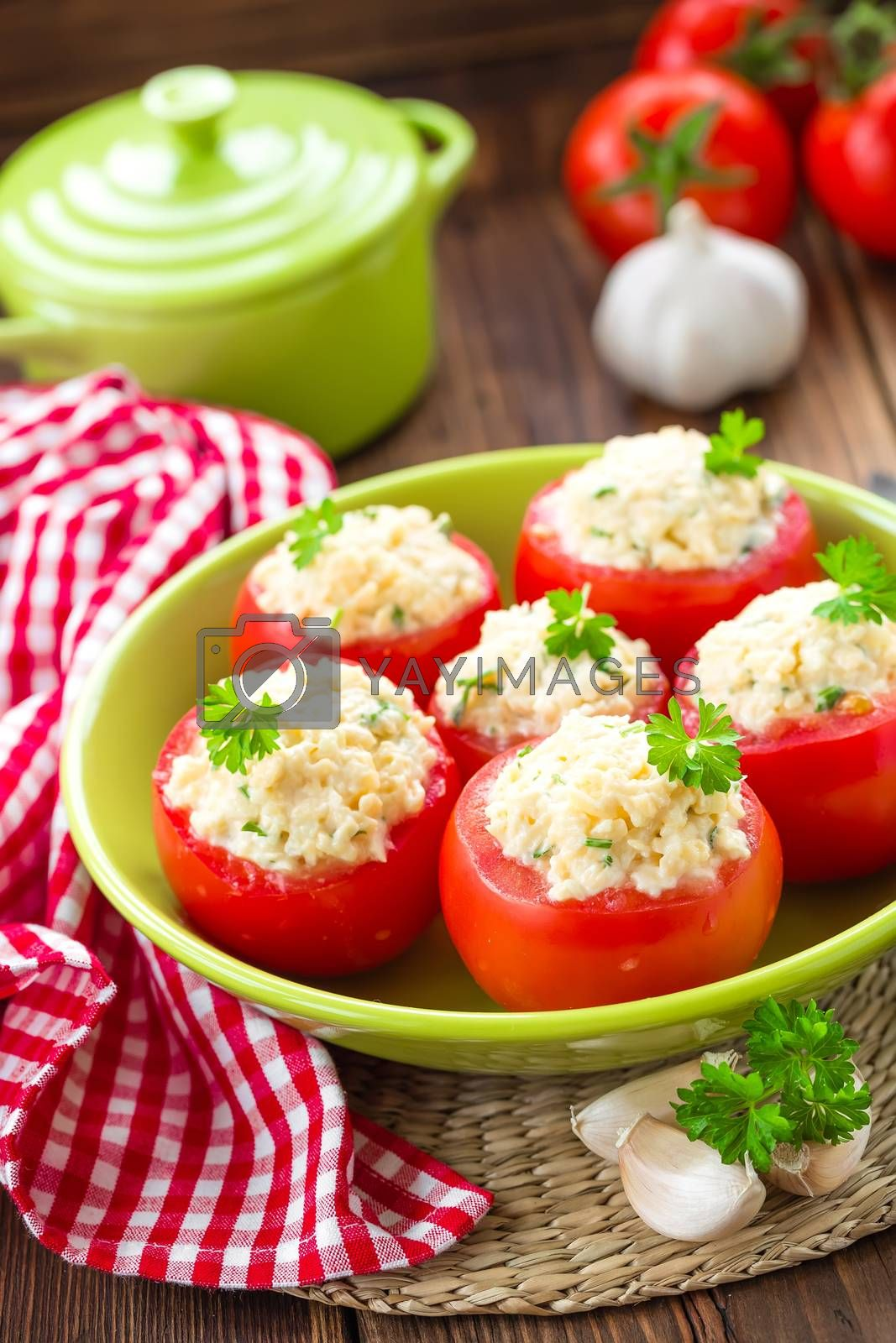 Stuffed tomatoes by yelenayemchuk