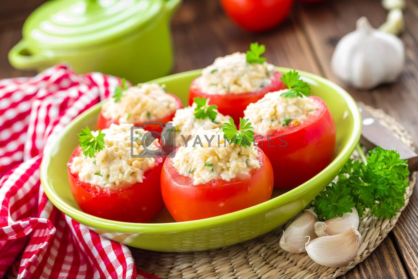 Royalty free image of Stuffed tomatoes by yelenayemchuk