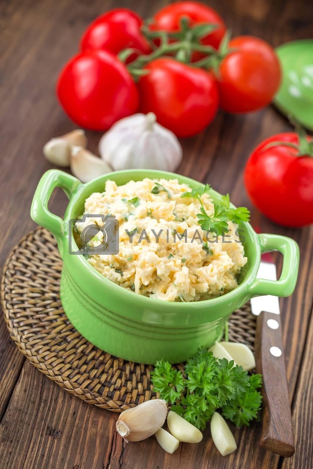 Royalty free image of Cheese salad by yelenayemchuk