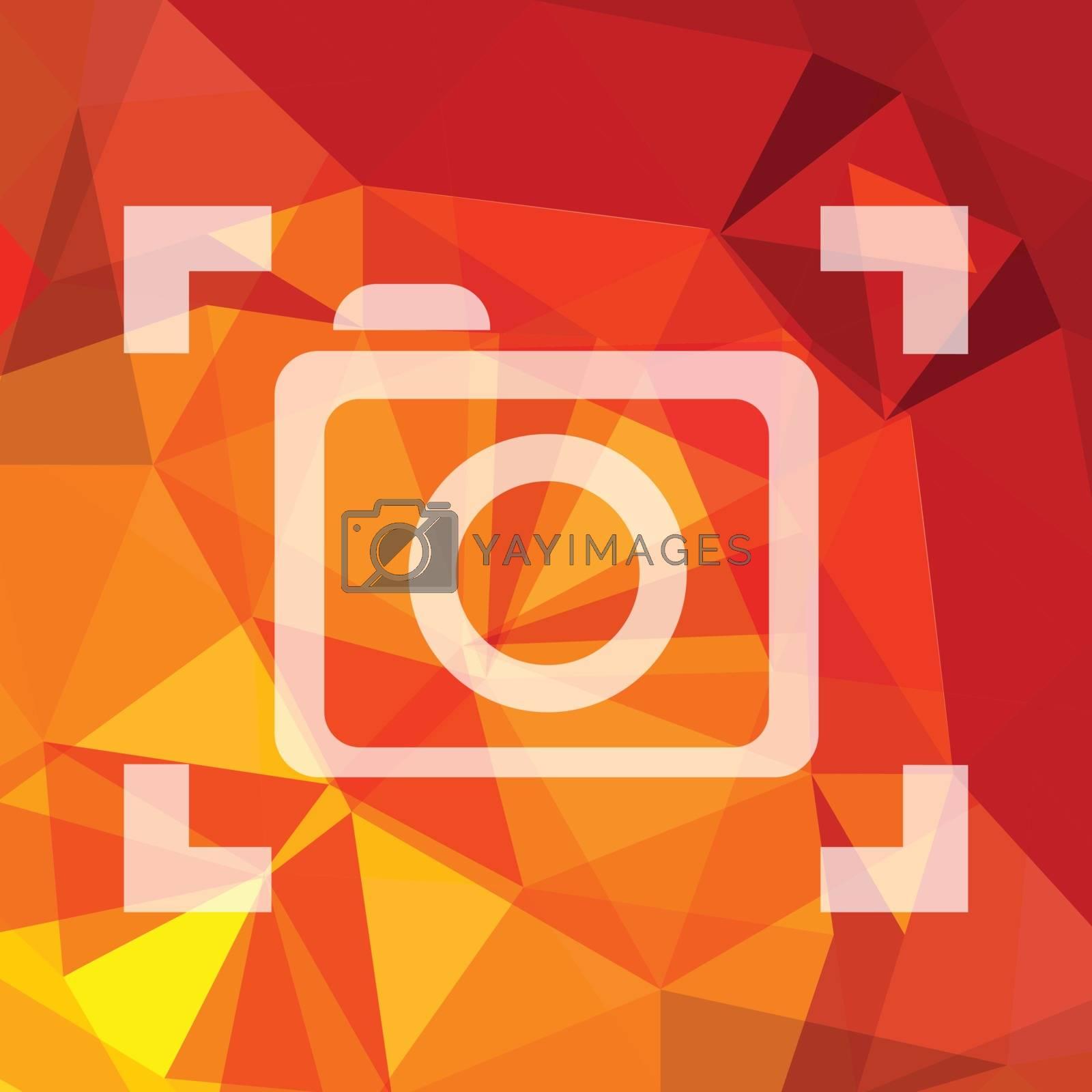 Royalty free image of camera symbol by valeo5