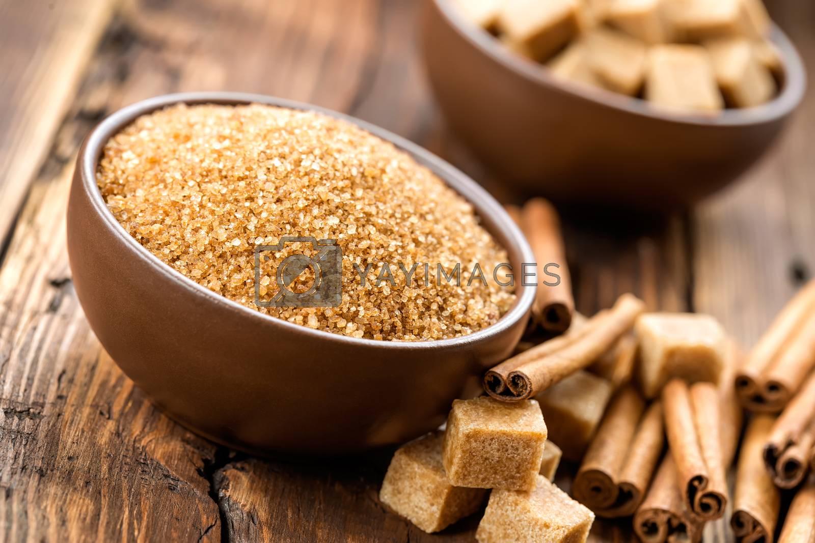 Royalty free image of Sugar and cinnamon by yelenayemchuk